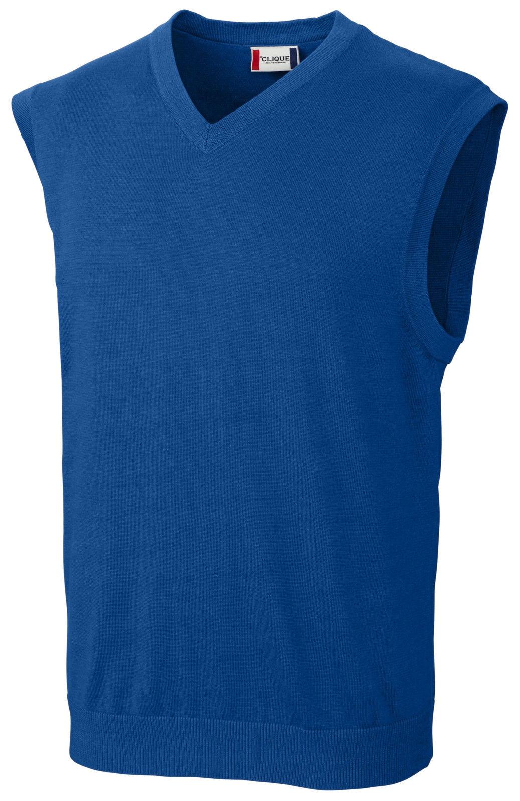Clique Imatra V-neck Sweater Vest MQS00003 by Cutter & Buck 3xl ...