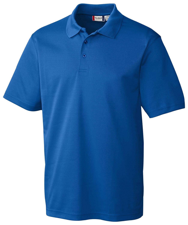 003b891fb Clique Men's Short Sleeve Polyester Pique Three Button Polo Shirt. MQK00052