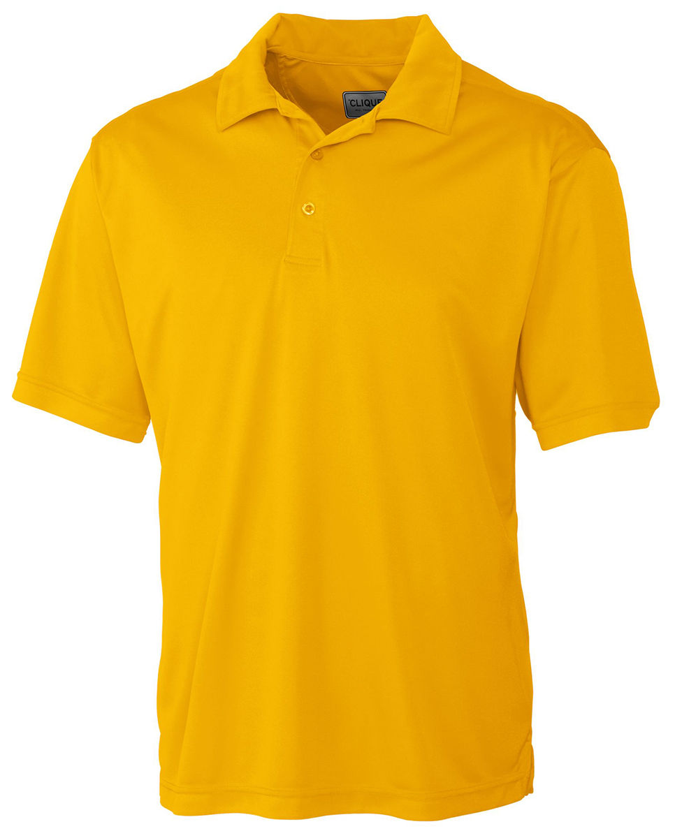 518ac46b Clique Men's New Polyester Short Sleeve Moisture Wicking Polo Shirt.  MQK00045