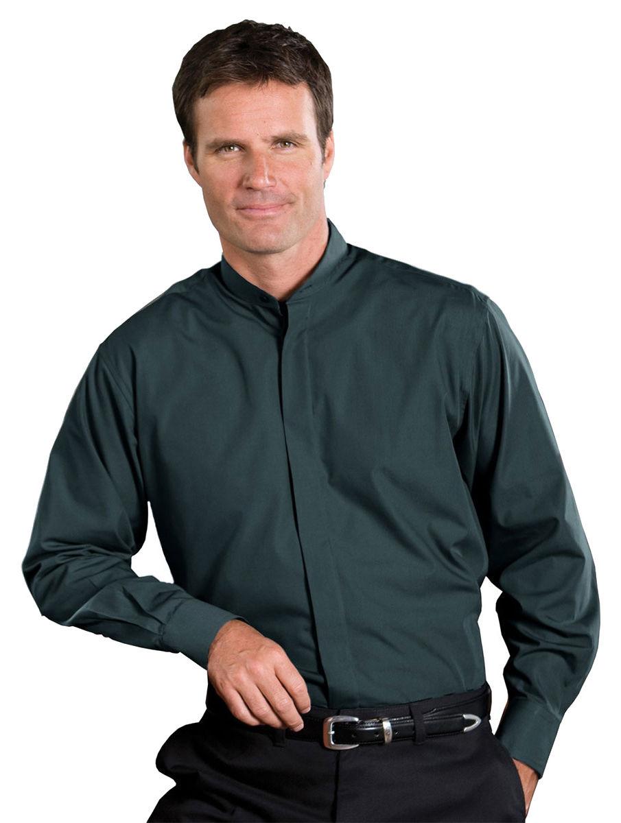 Edwards Mens Banded Collar Shirt