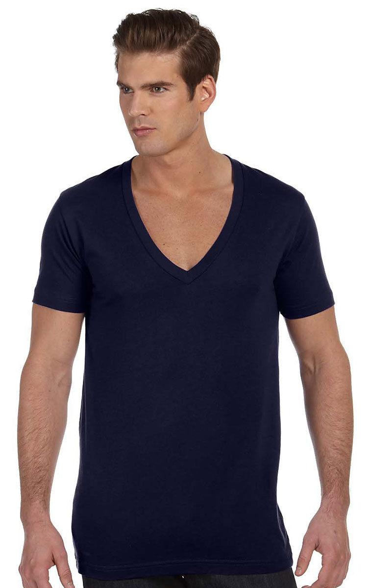 3ecd95d0df27 Bella+Canvas Mens Unisex Deep V-Neck T-Shirt Tee XS -2XL Men's/ Ladies. 3105