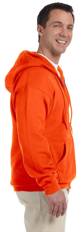 Gildan-Men-039-s-Pouch-Pocket-Performance-50-50-Ribbed-Cuffs-Full-Zip-Hoodie-G126 thumbnail 8