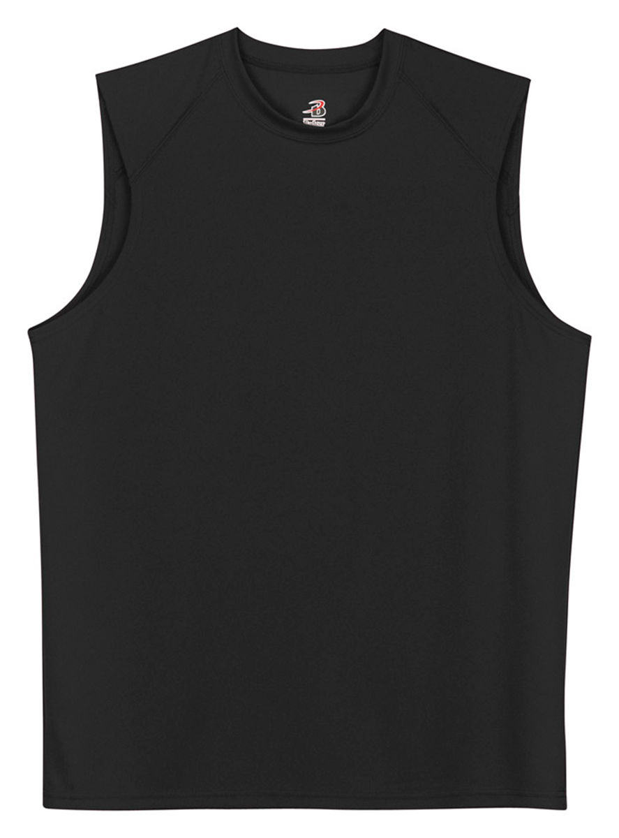 6c676cbdfe5 Badger Men's Sleeveless B-dry Tee Solid Gym Shirt 4130 L Black | eBay