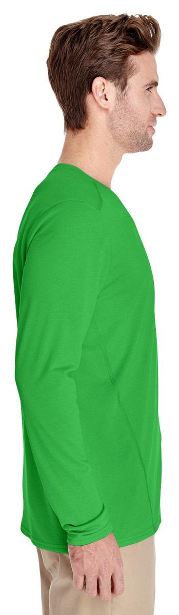 Gildan-Men-039-s-New-Casual-Long-Sleeve-Polyester-Wicking-Jersey-T-Shirt-G474 thumbnail 8