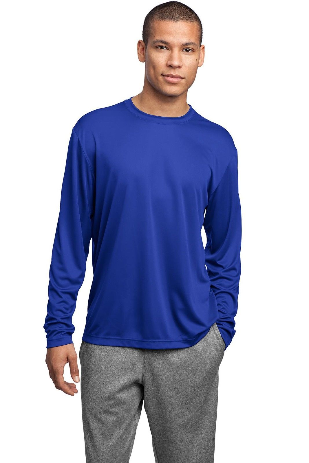 MEN'S MOISTURE WICKING DRY FIT SPORT-TEK Long Sleeve T ...