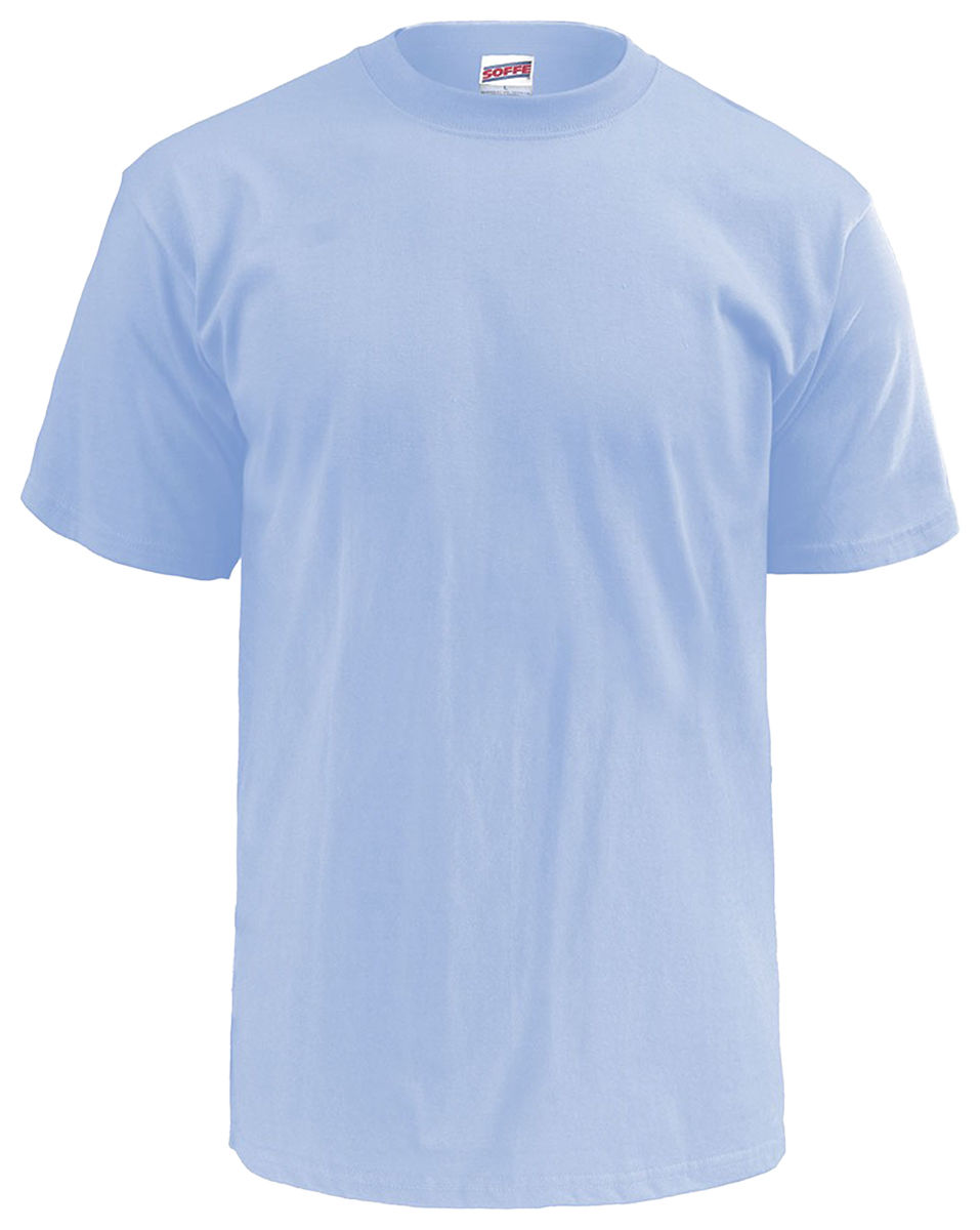 c4d9bdb37 MJ Soffe Mens Classic 100 Cotton Short Sleeve T-shirt Light Blue Small.  About this product. Picture 1 of 3; Picture 2 of 3; Picture 3 of 3