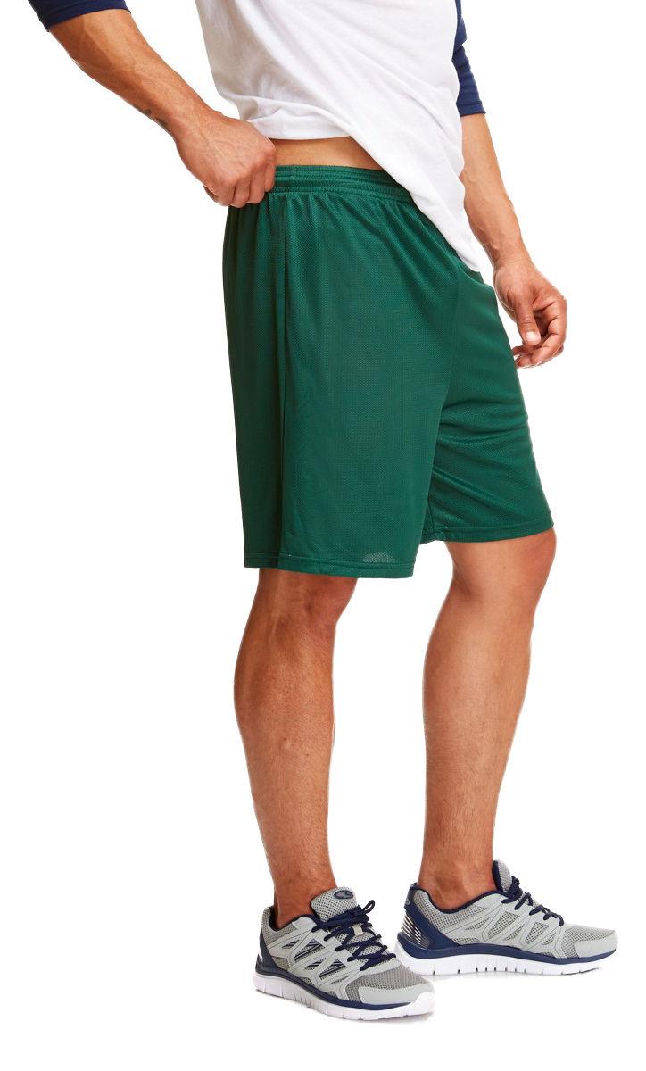 Soffe-Men-039-s-Nylon-Baggy-Legs-Elastic-Waistband-Drawstring-Mini-Mesh-Short-M058 thumbnail 6