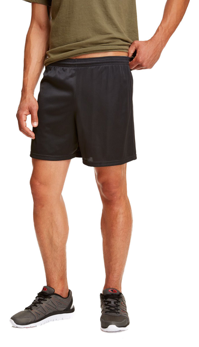 Soffe-Men-039-s-Nylon-Elastic-Waistband-Straight-Leg-5-034-Basic-Mini-Mesh-Short-M059 thumbnail 6