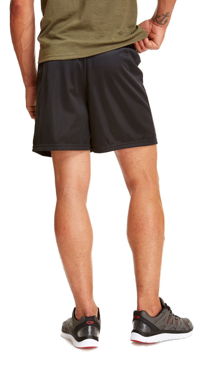 Soffe-Men-039-s-Nylon-Elastic-Waistband-Straight-Leg-5-034-Basic-Mini-Mesh-Short-M059 thumbnail 7