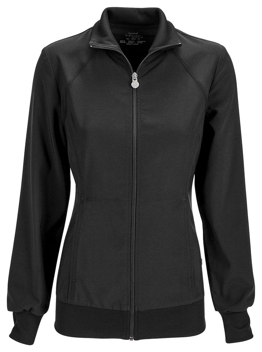 Cherokee Women's Workwear Zip Front Warm Up Long Sleeve ...