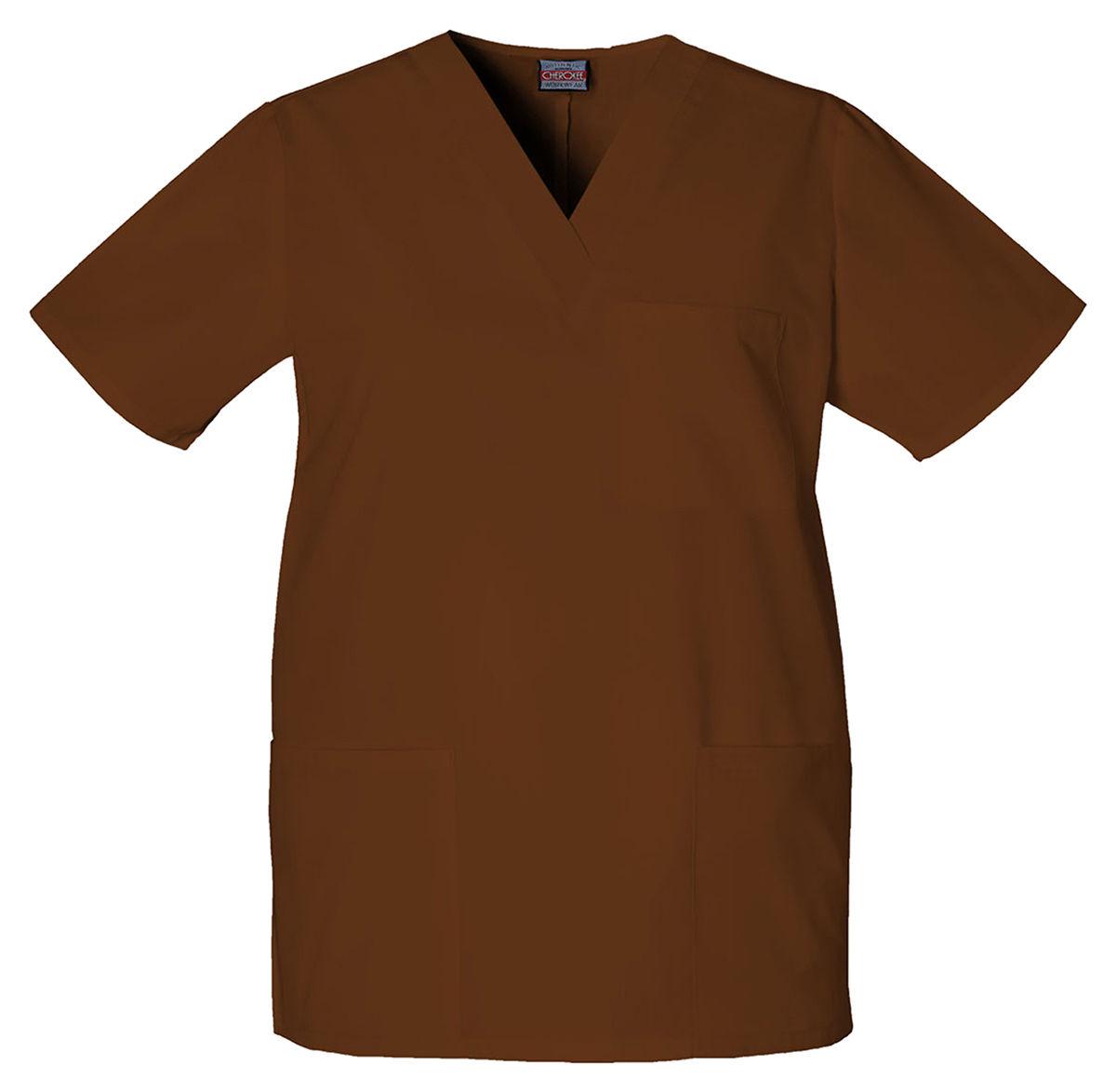 Cherokee-Adult-Workwear-V-Neck-Short-Sleeve-Chest-Pocket-Scrub-Top-4876