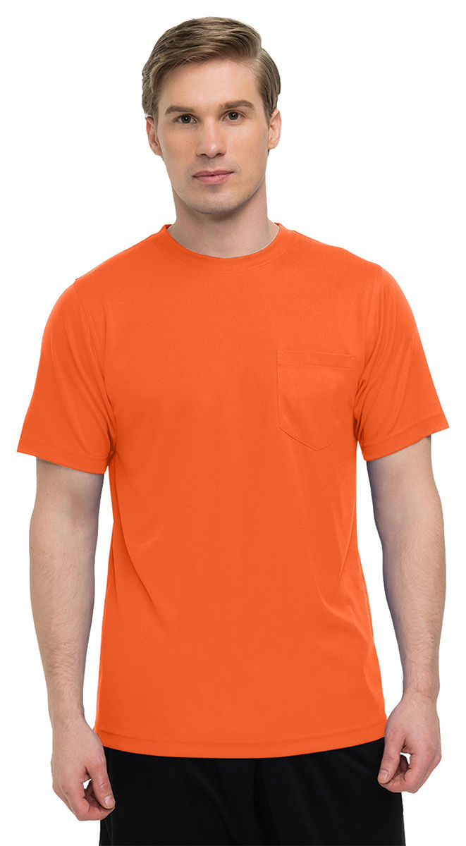 K020PCN Tri-Mountain Men/'s Crewneck Short Sleeve Chest Pocket PiqueT-Shirt