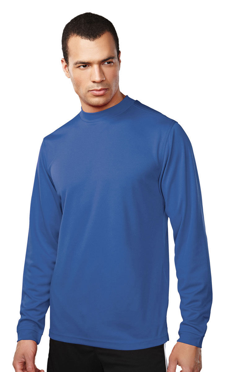 tri mountain men 39 s mock self fabric collar turtleneck performance t shirt 626 ebay. Black Bedroom Furniture Sets. Home Design Ideas