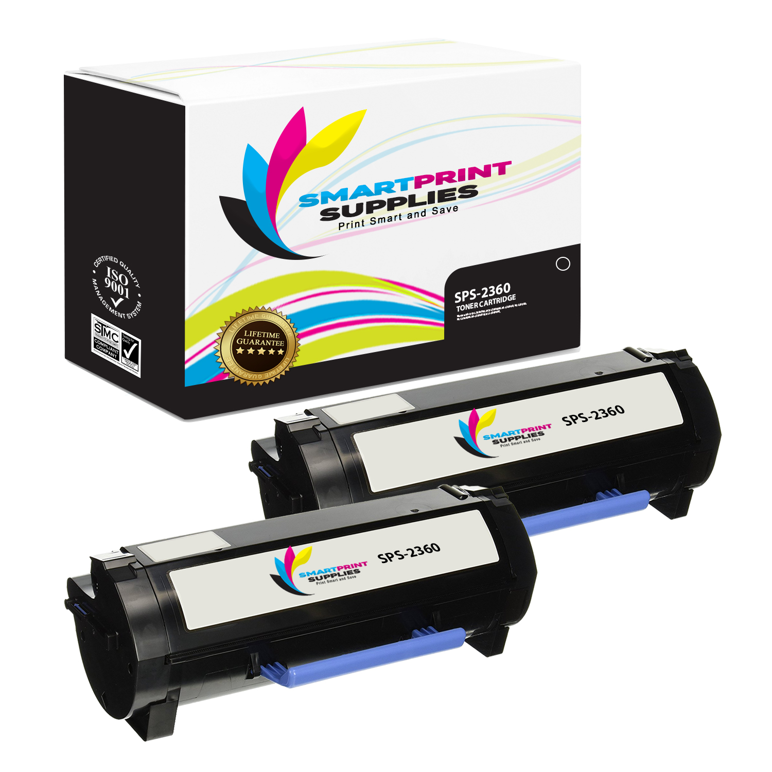 4 Pack Smart Print Supplies Compatible 331-9803 Black Toner Cartridge Replacement for Dell B2360 3460 3465 Printers 2,500 Pages