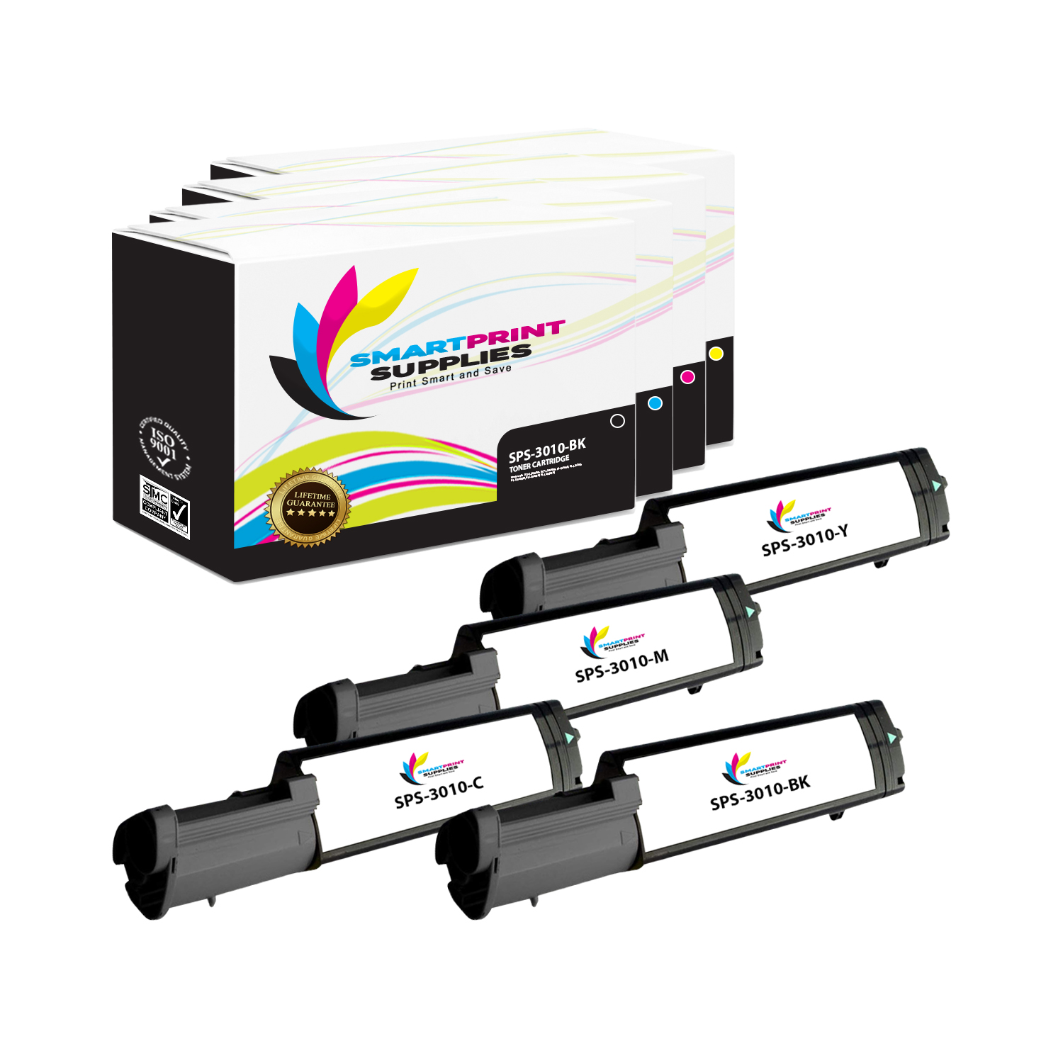 Smart Print Supplies Compatible 341-3571 Cyan Toner Cartridge Replacement for Dell 3010CN Printers 4,000 Pages