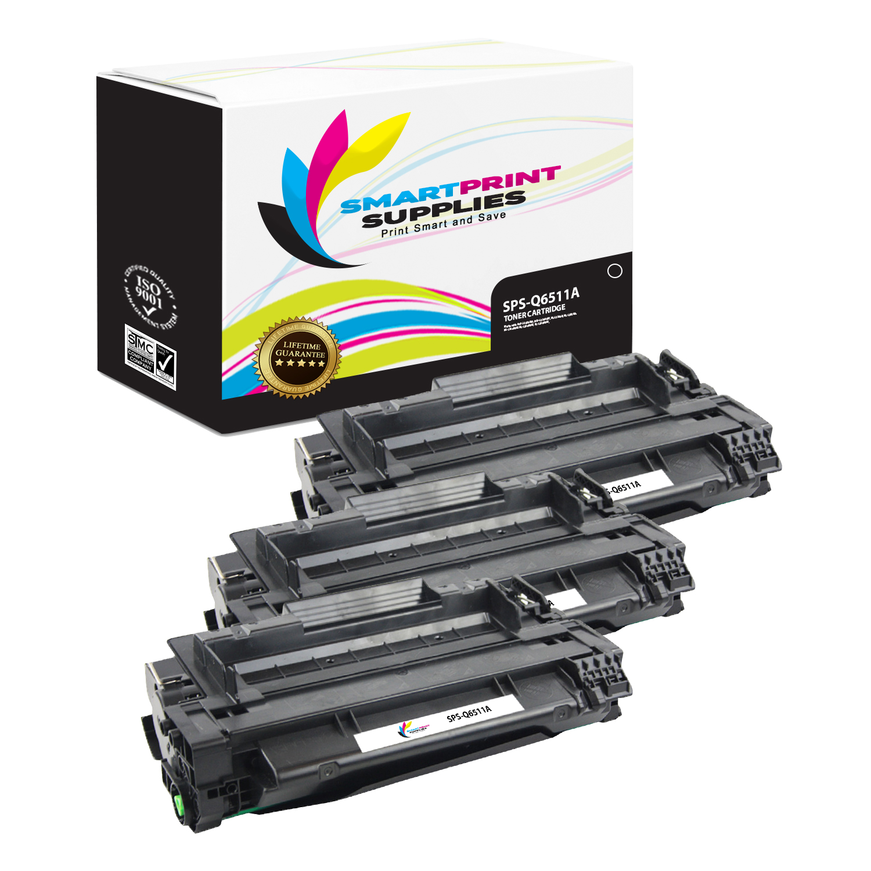 3pk Q6511A 11A Toner Cartridge For HP Laserjet Printer
