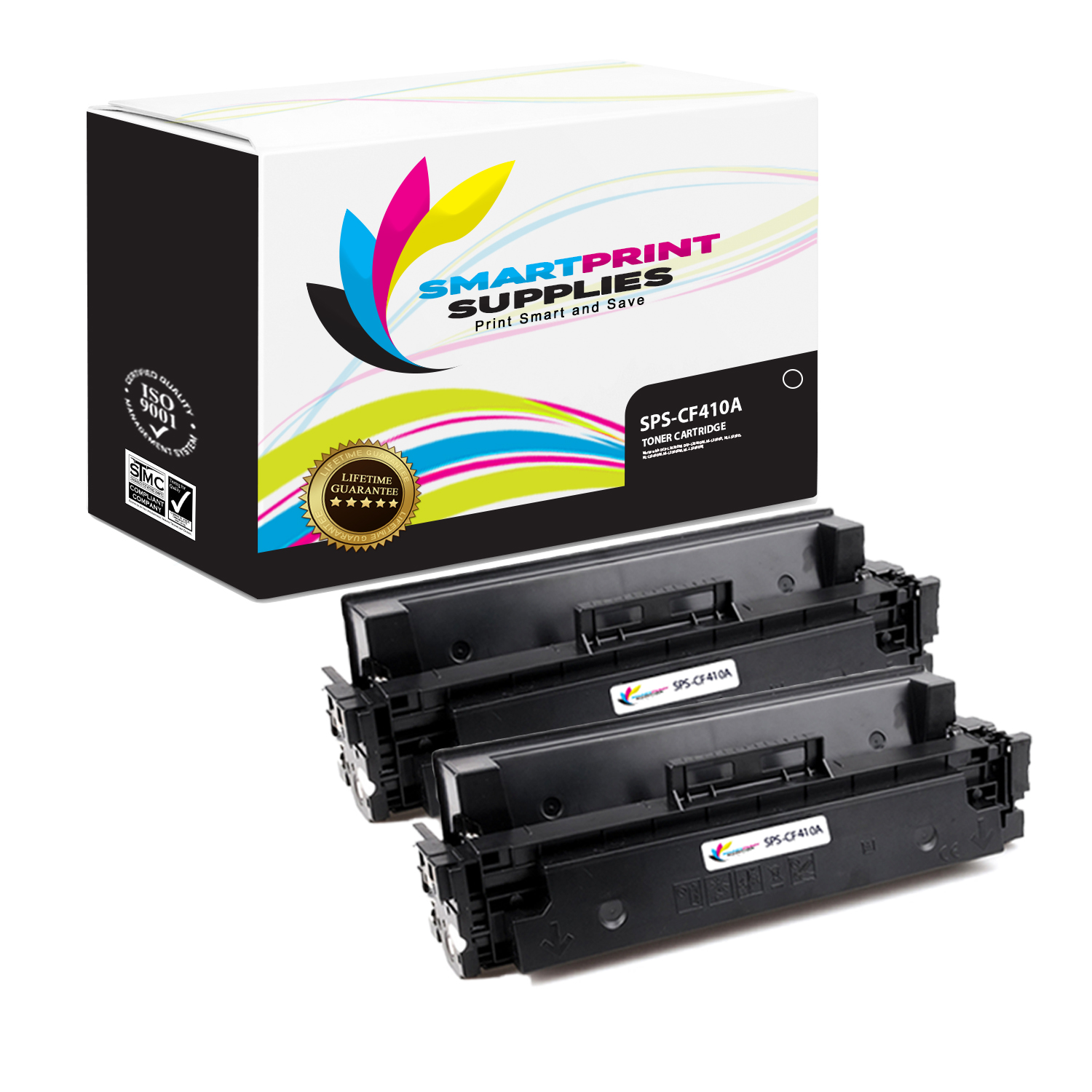 2PK  CF410X Black Toner Cartridges For HP LaserJet Pro  M377 M452 M477