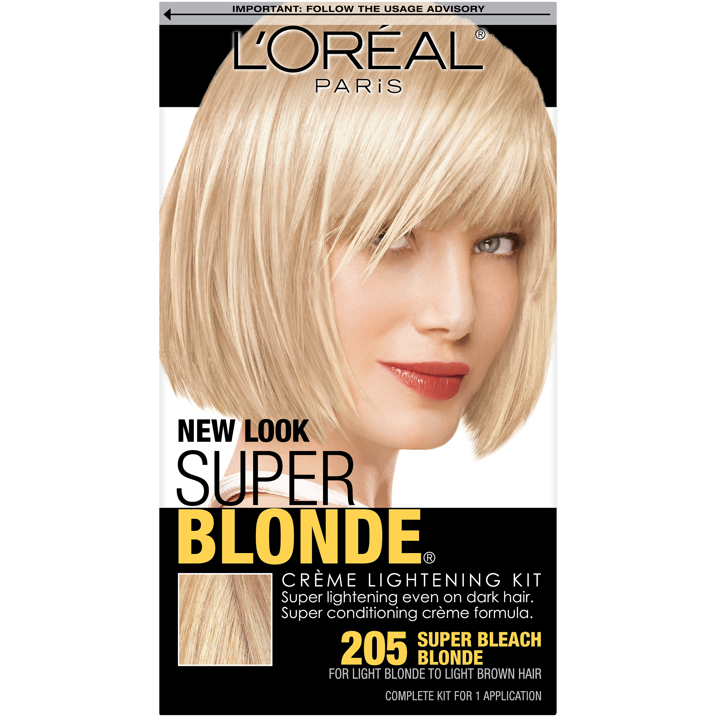 Loreal Paris Super Bleach Blonde 205 Creme Lightening Kit ...