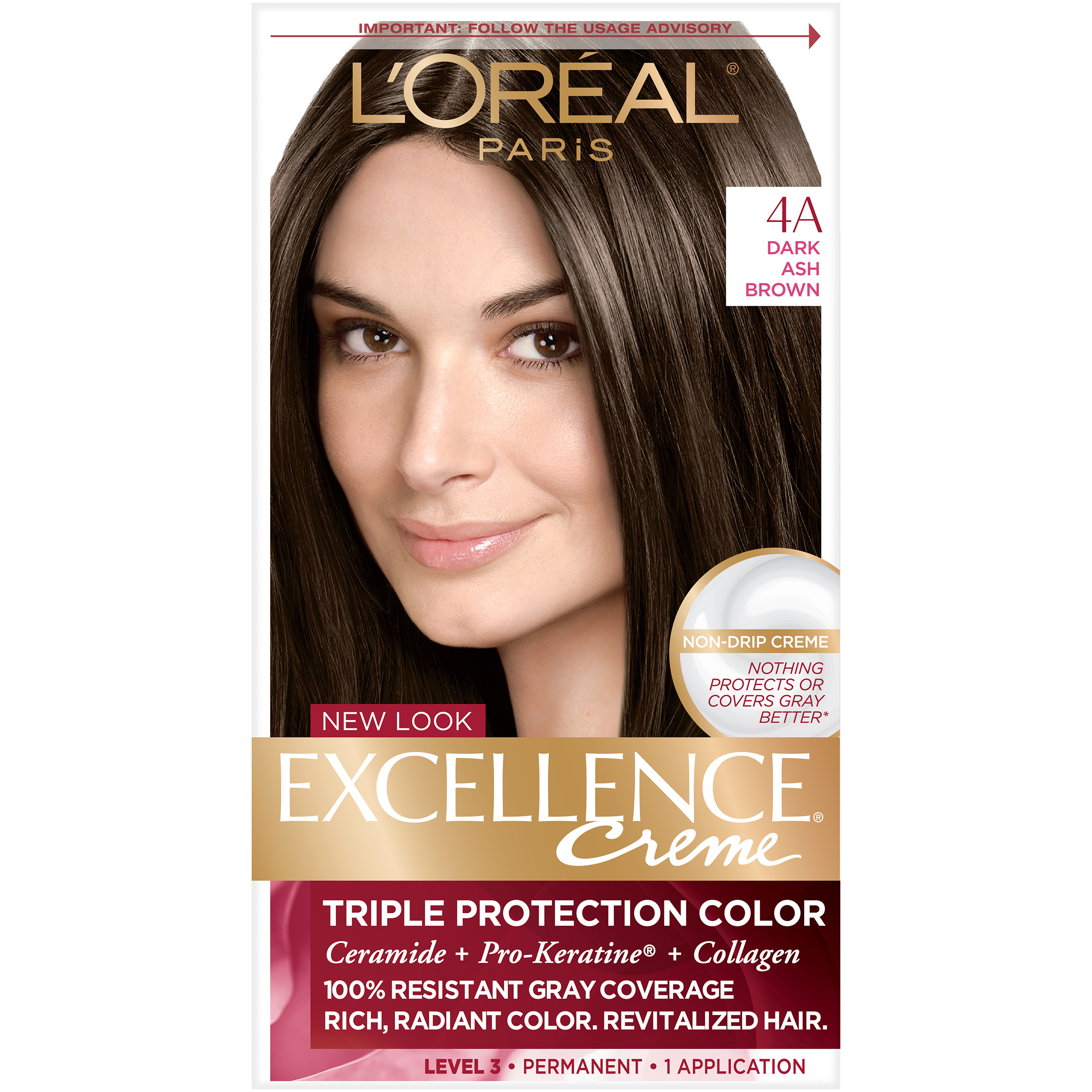 Loreal Paris Excellence Richesse Creme Hair Color 4rm Dark Mahogany