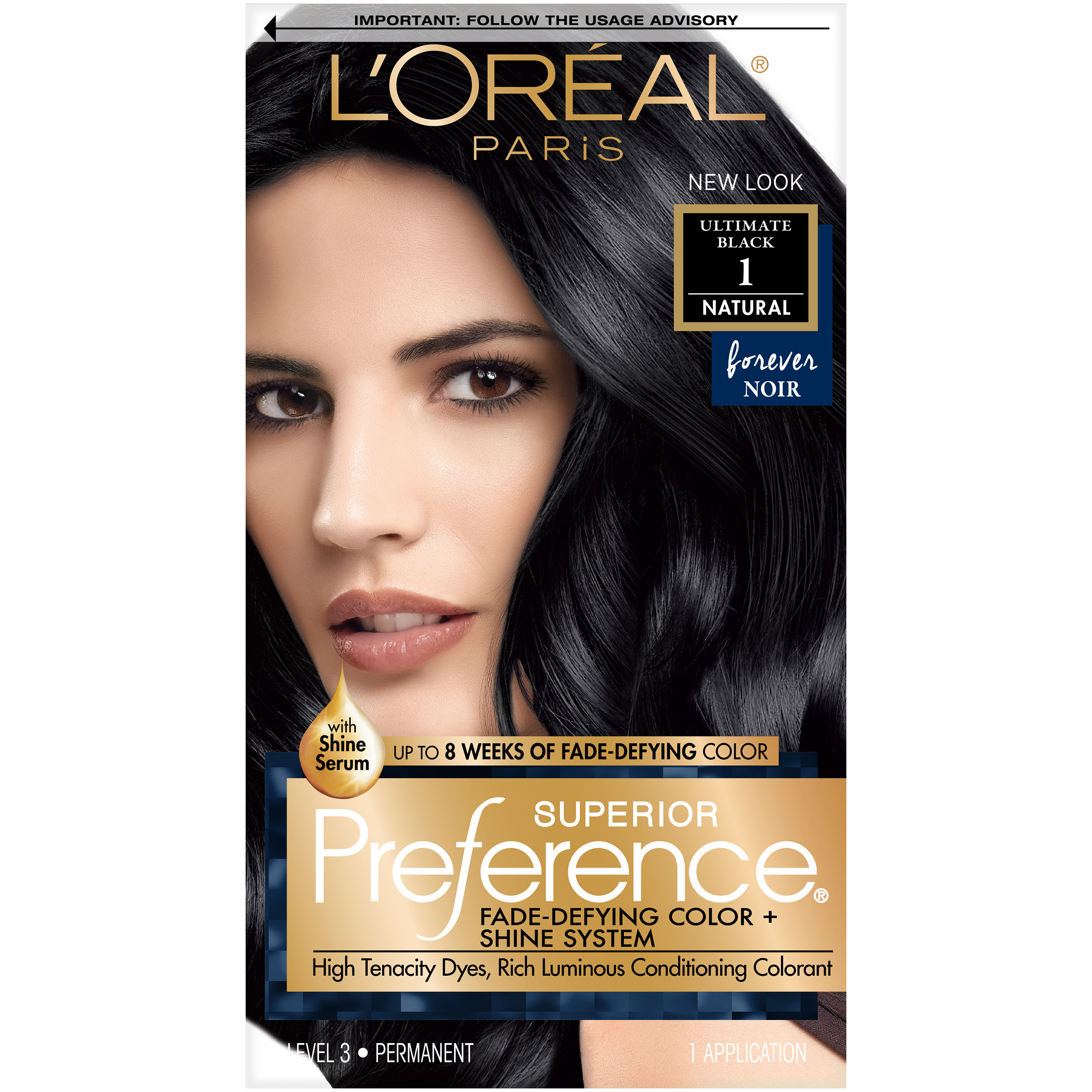 2 Loreal Preference 1 Ultimate Black Hair Dye Color Permanent Ebay