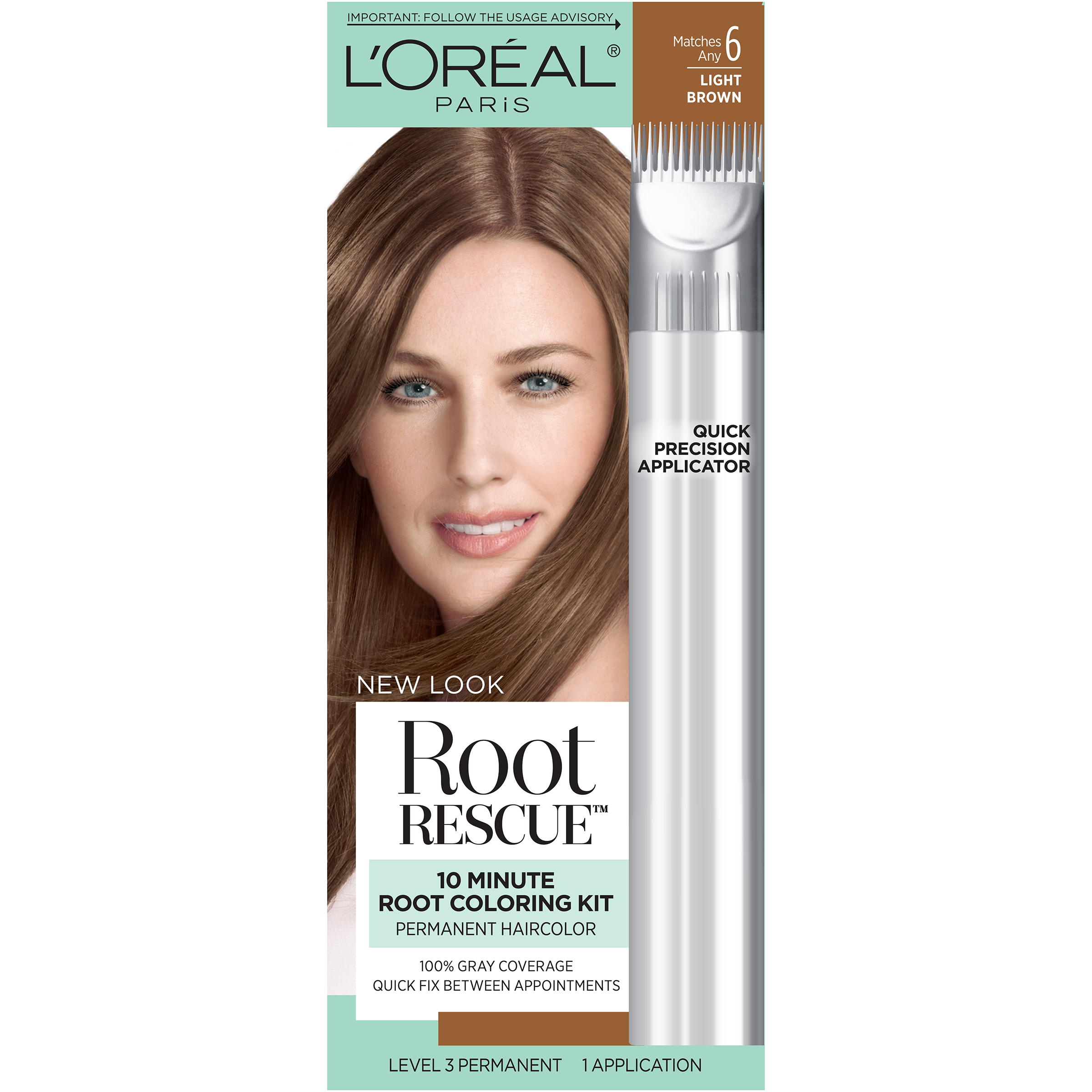 L\'oreal Paris Root Rescue 10 Minute Coloring Kit Light Brown 6 1 ...