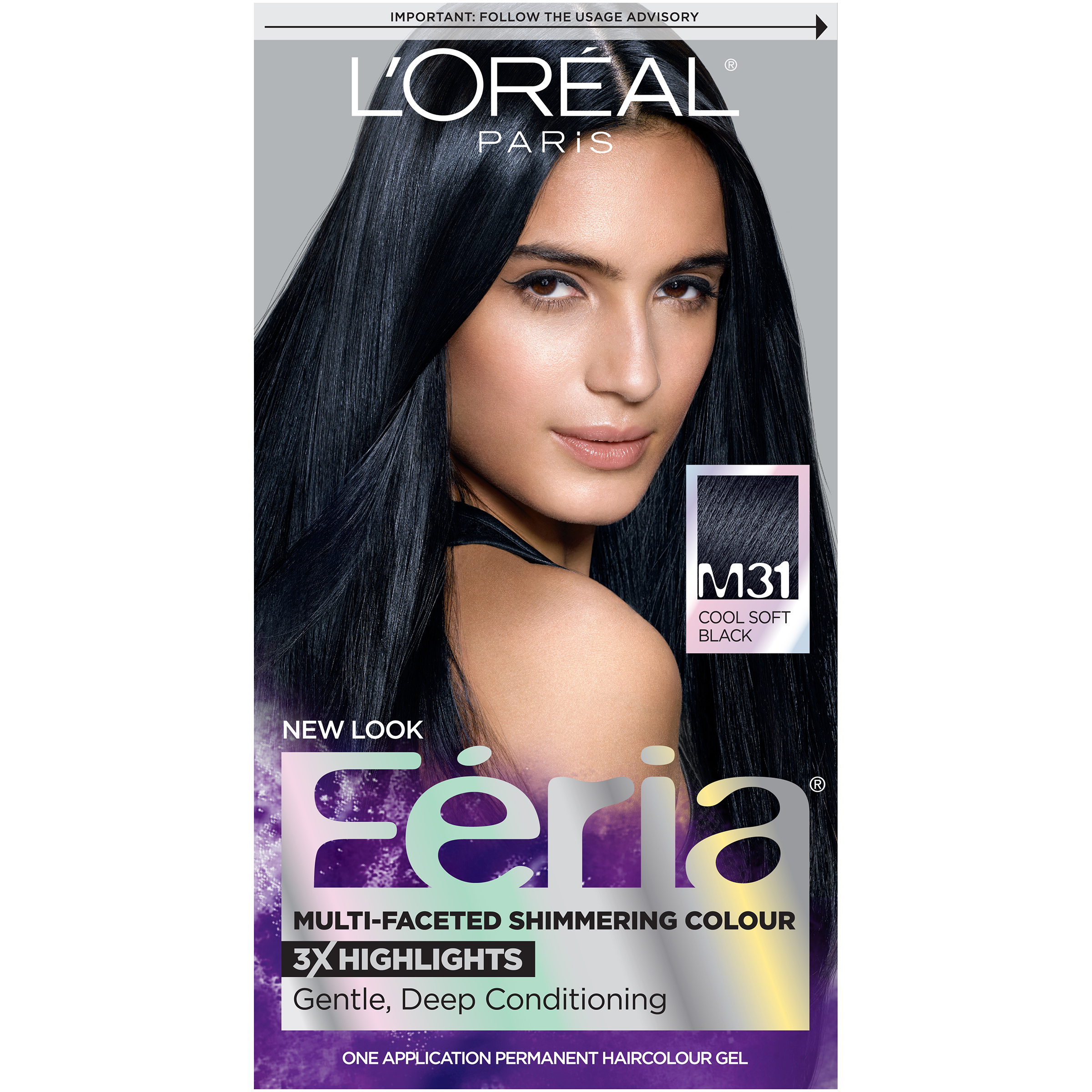 Loreal Paris Feria Midnight Moon Hair Color M31 Cooler Cool Soft
