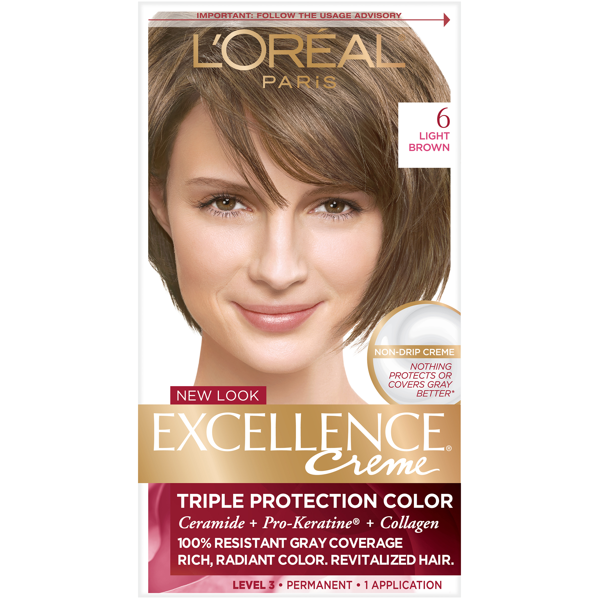 Loreal Paris Excellence Creme Hair Color Light Brown 6 Ebay
