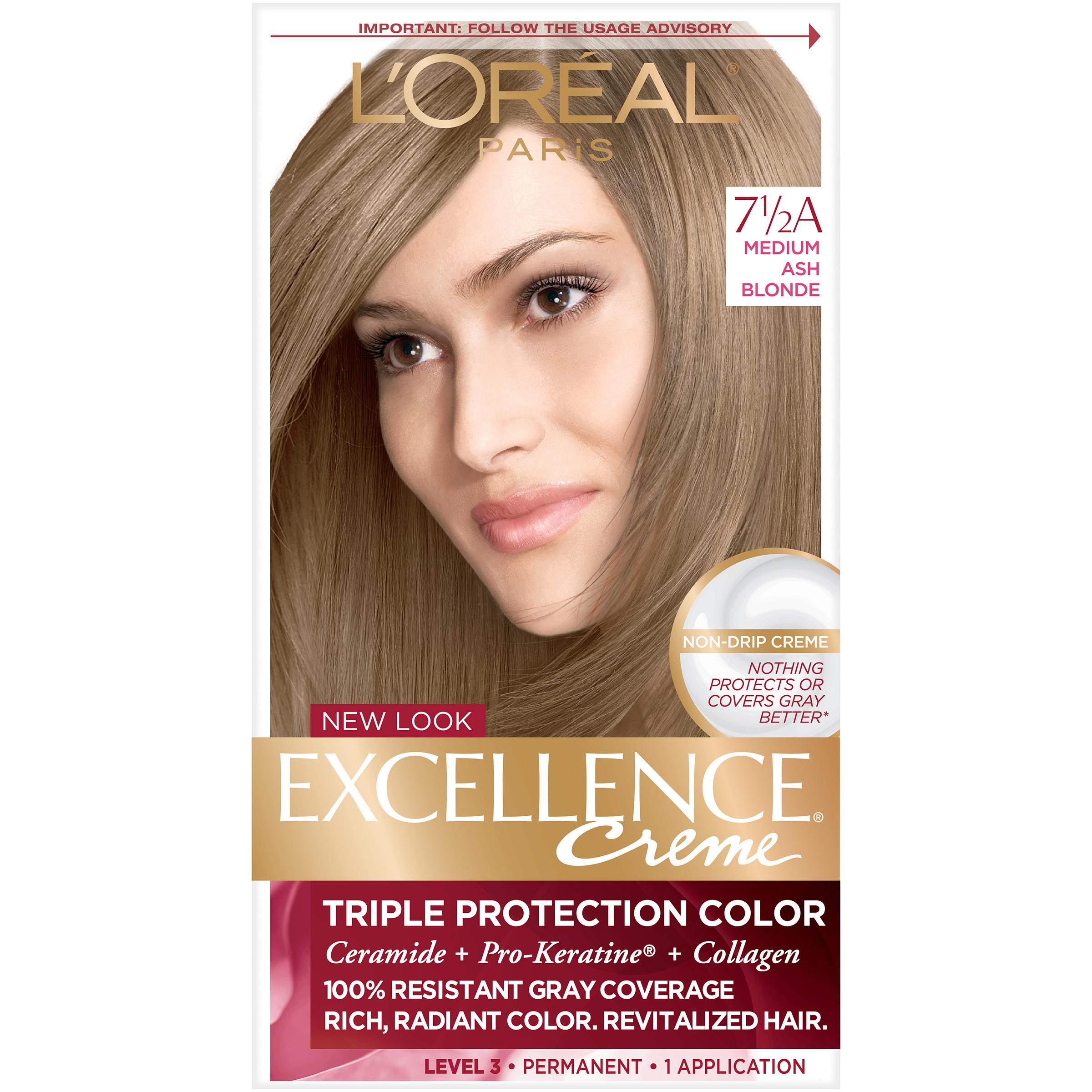Loreal Paris Excellence Creme Hair Color Ash Blonde 7 12 A 1 Kit