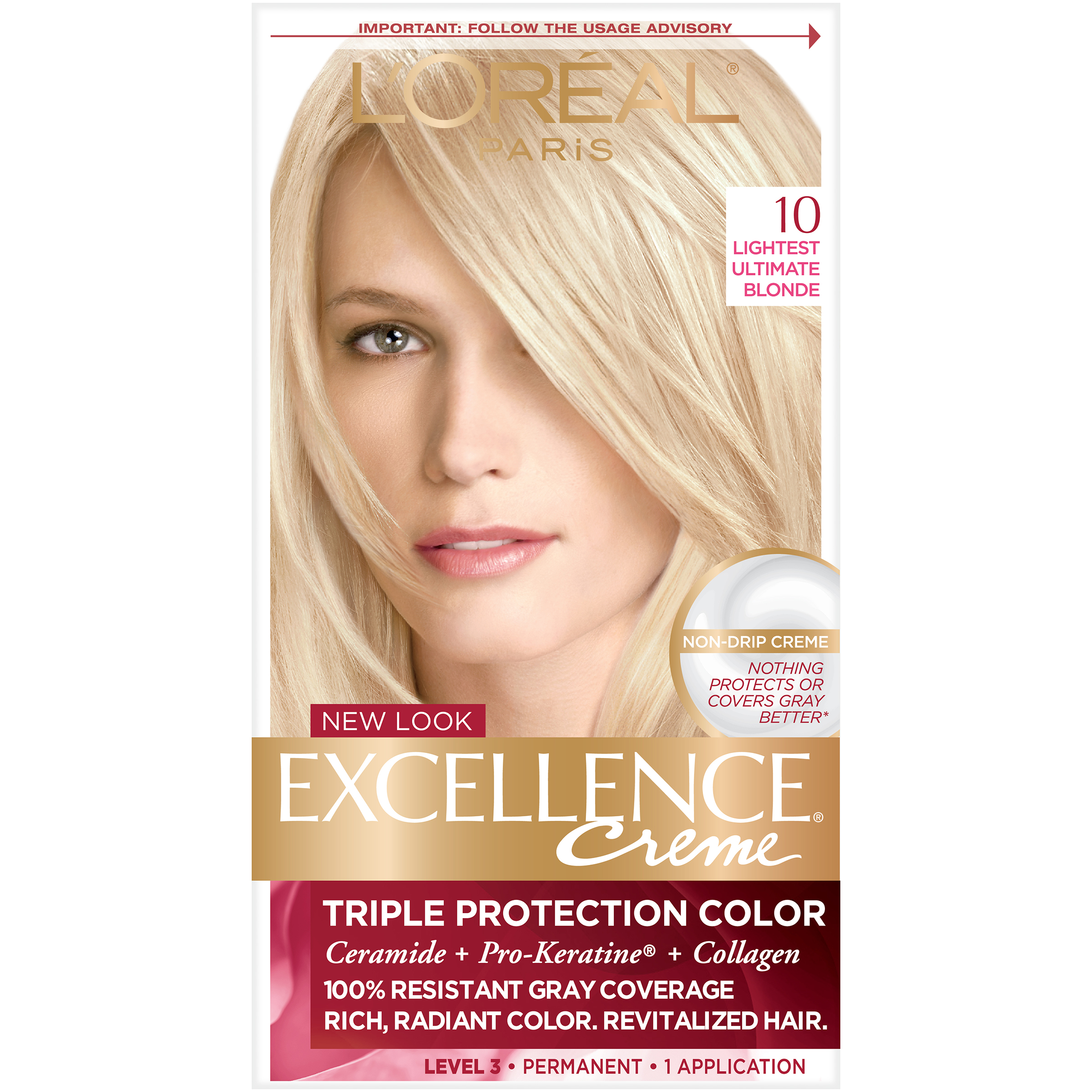Loreal Excellence Triple Protection Hair Color Creme 10 Lightest
