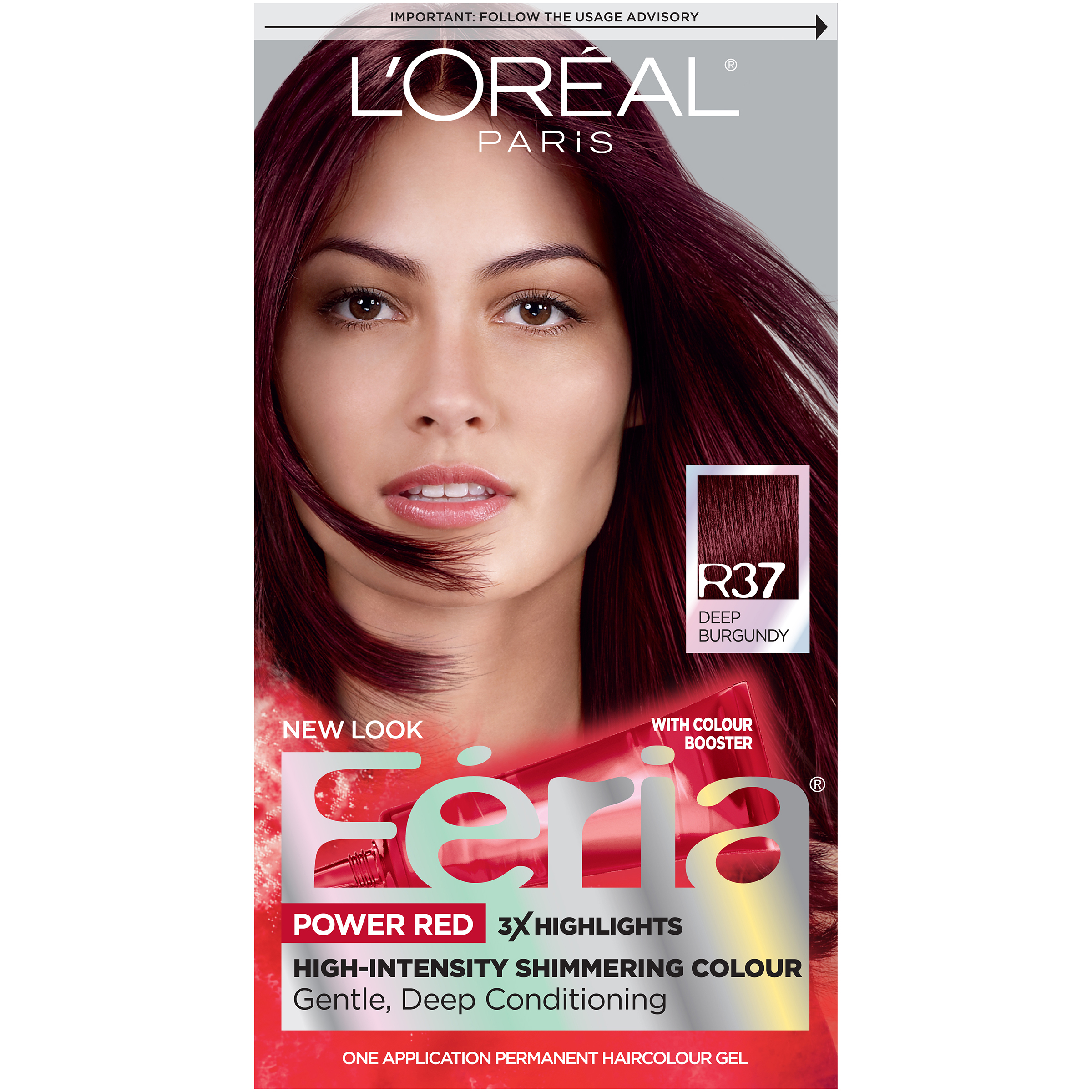 Loreal Feria Power Reds High Intensity Hair Color R37 Blowout