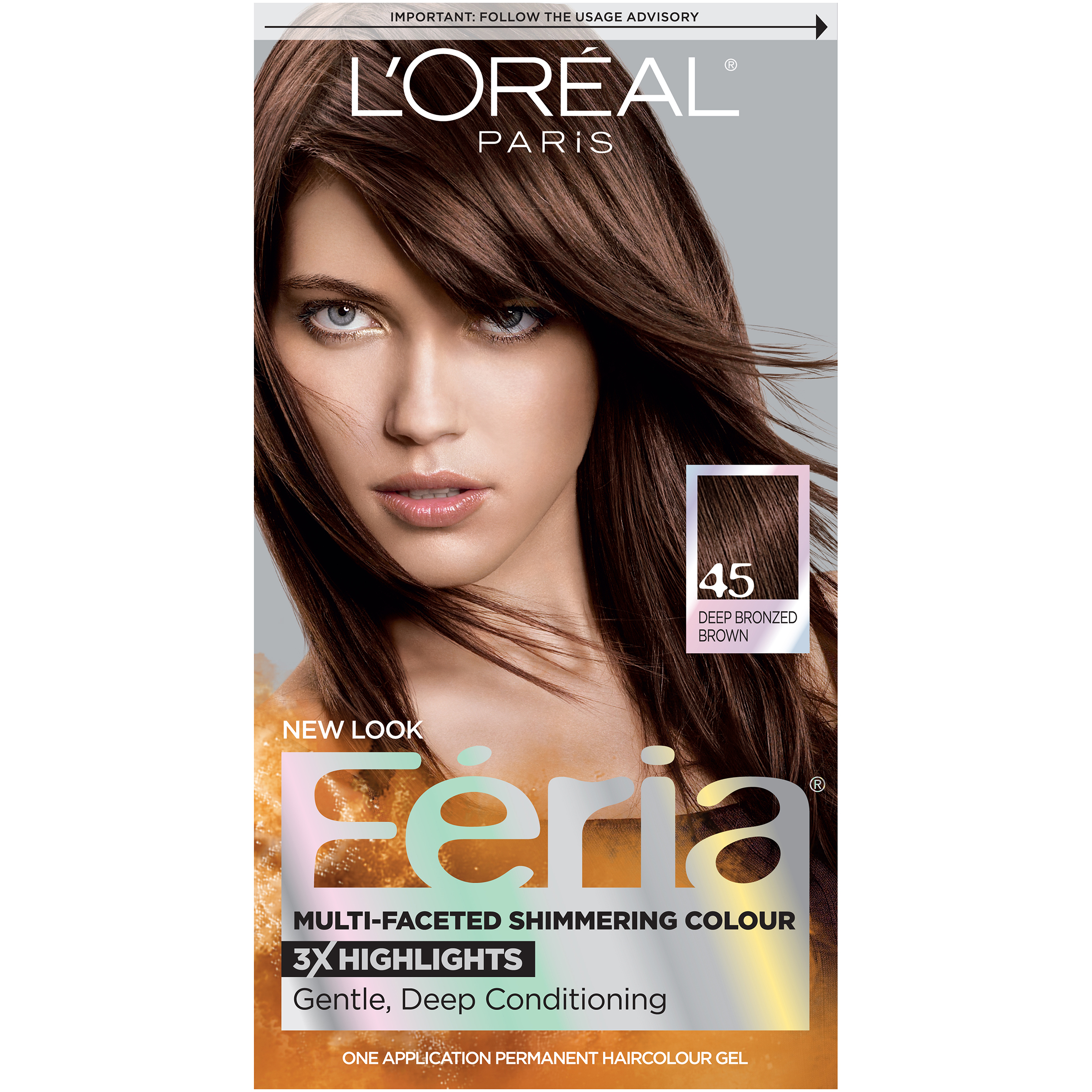 Loreal Feria Permanent Haircolor Gel 45 Deep Bronzed Brown Ebay