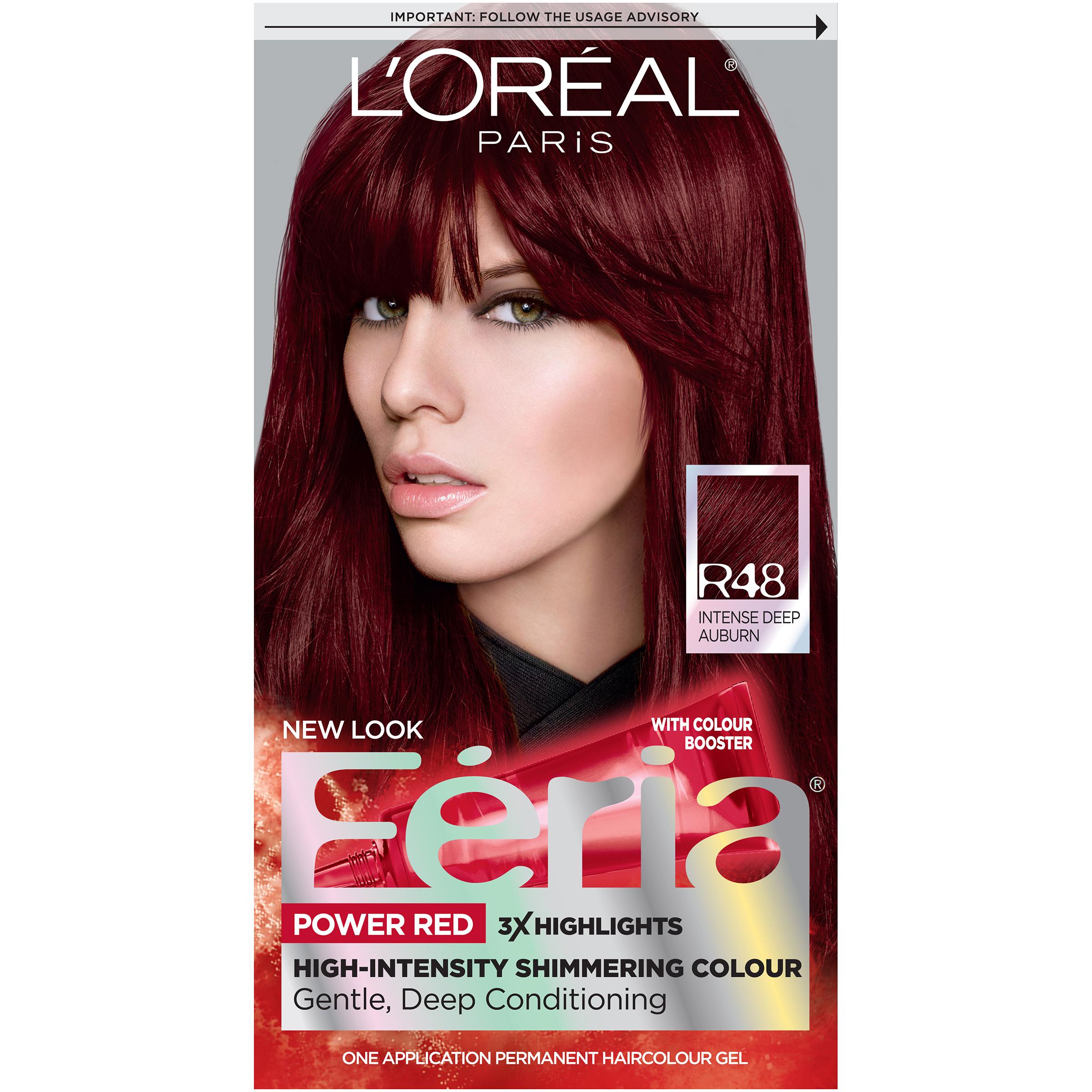 Loreal Paris Feria Power Reds Permanent Haircolour Gel R48 Intense