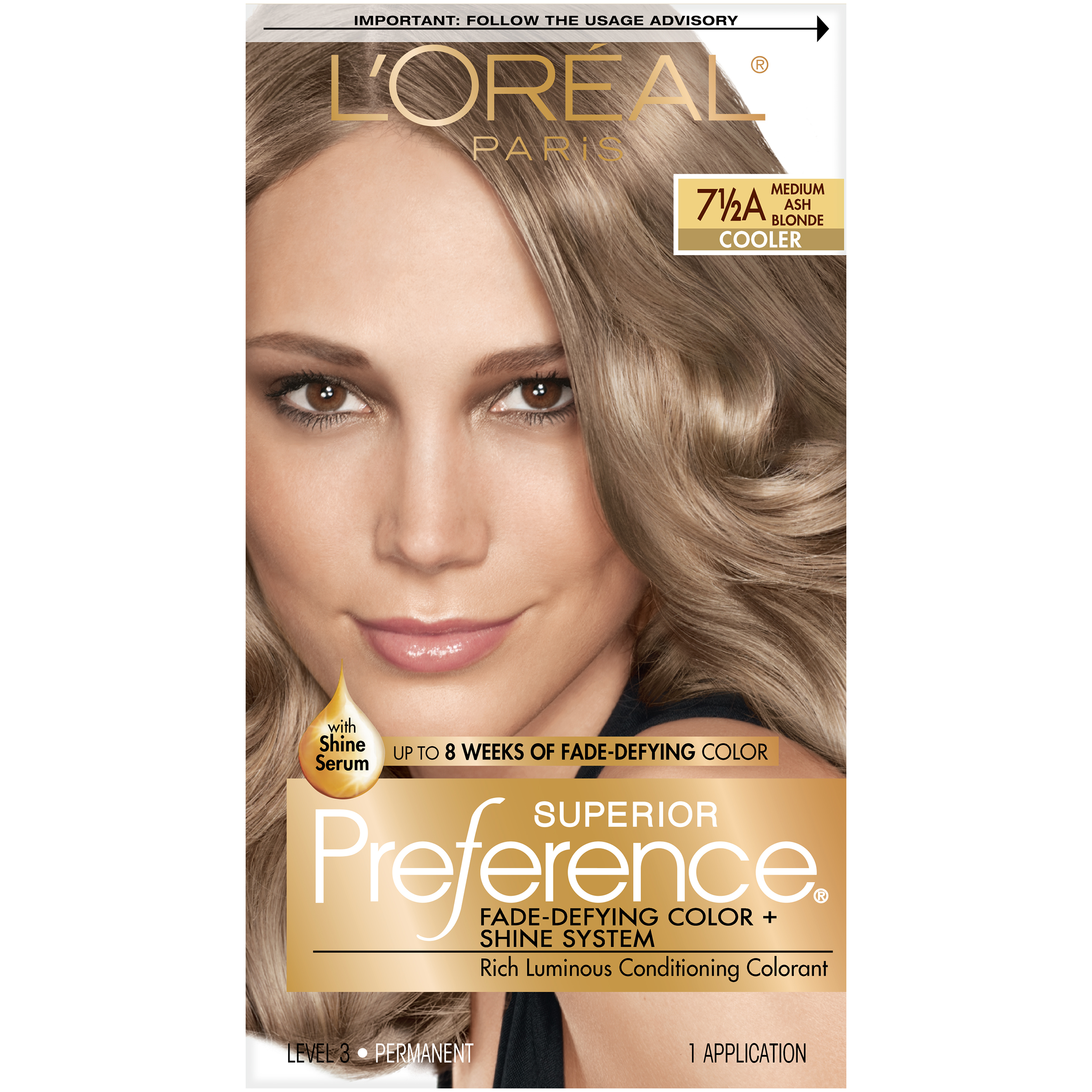 Loreal Paris Superior Preference 7 12a Medium Ash Blonde Cooler