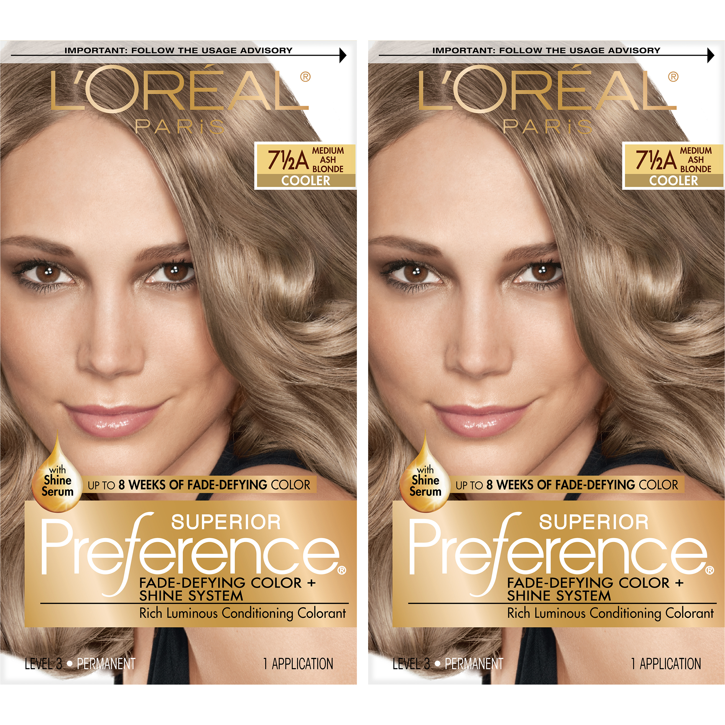 Loreal Paris Superior Preference Permanent Hair Color 75a Med Ash