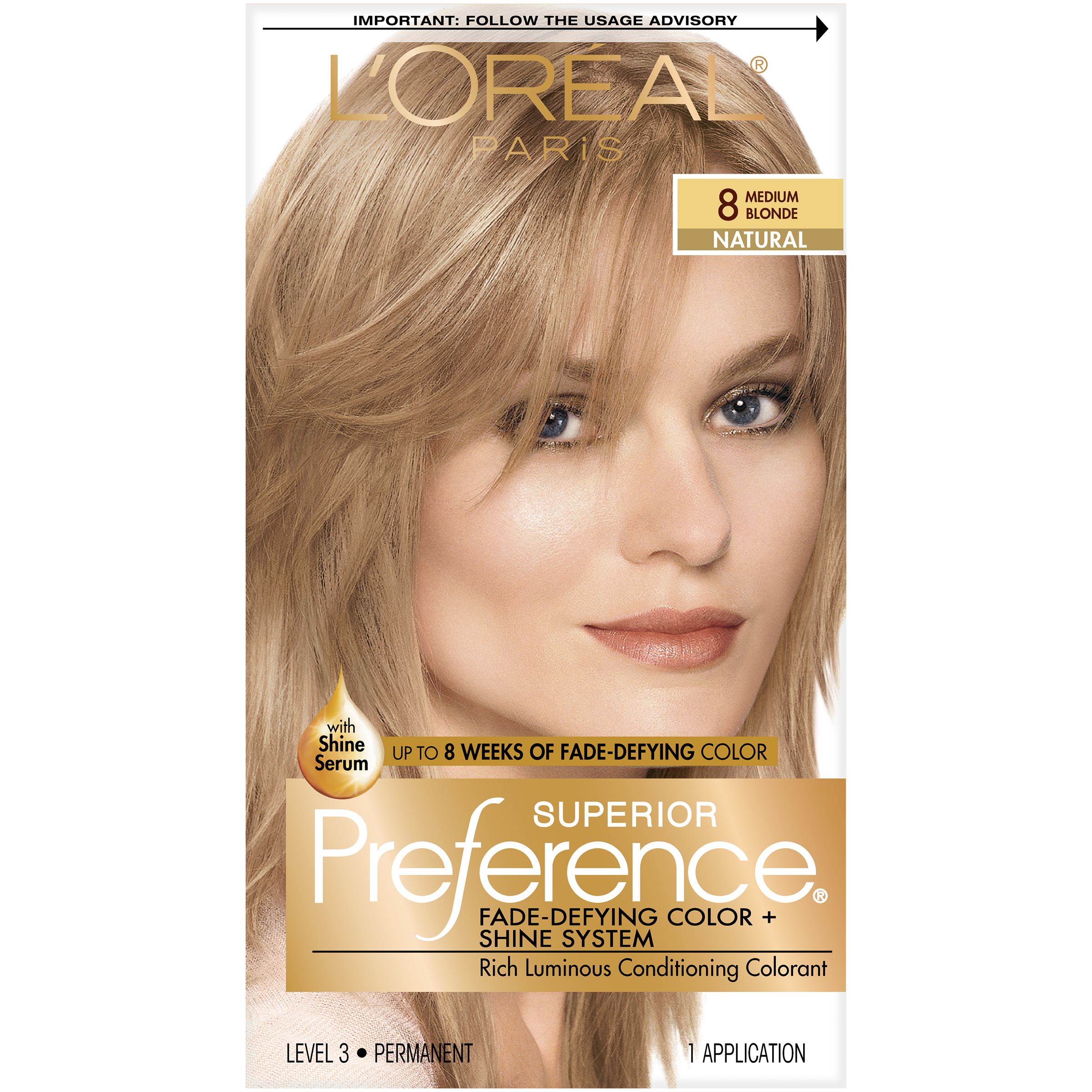 Loreal Superior Preference Hair Color 8 Medium Blonde Ebay