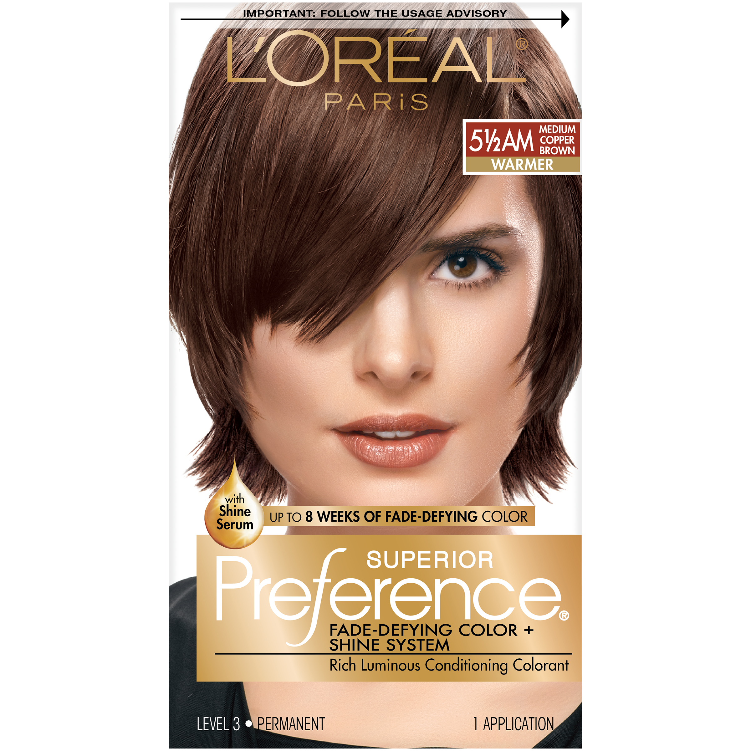 Loreal Paris Superior Preference Hair Color 55am Medium Amber