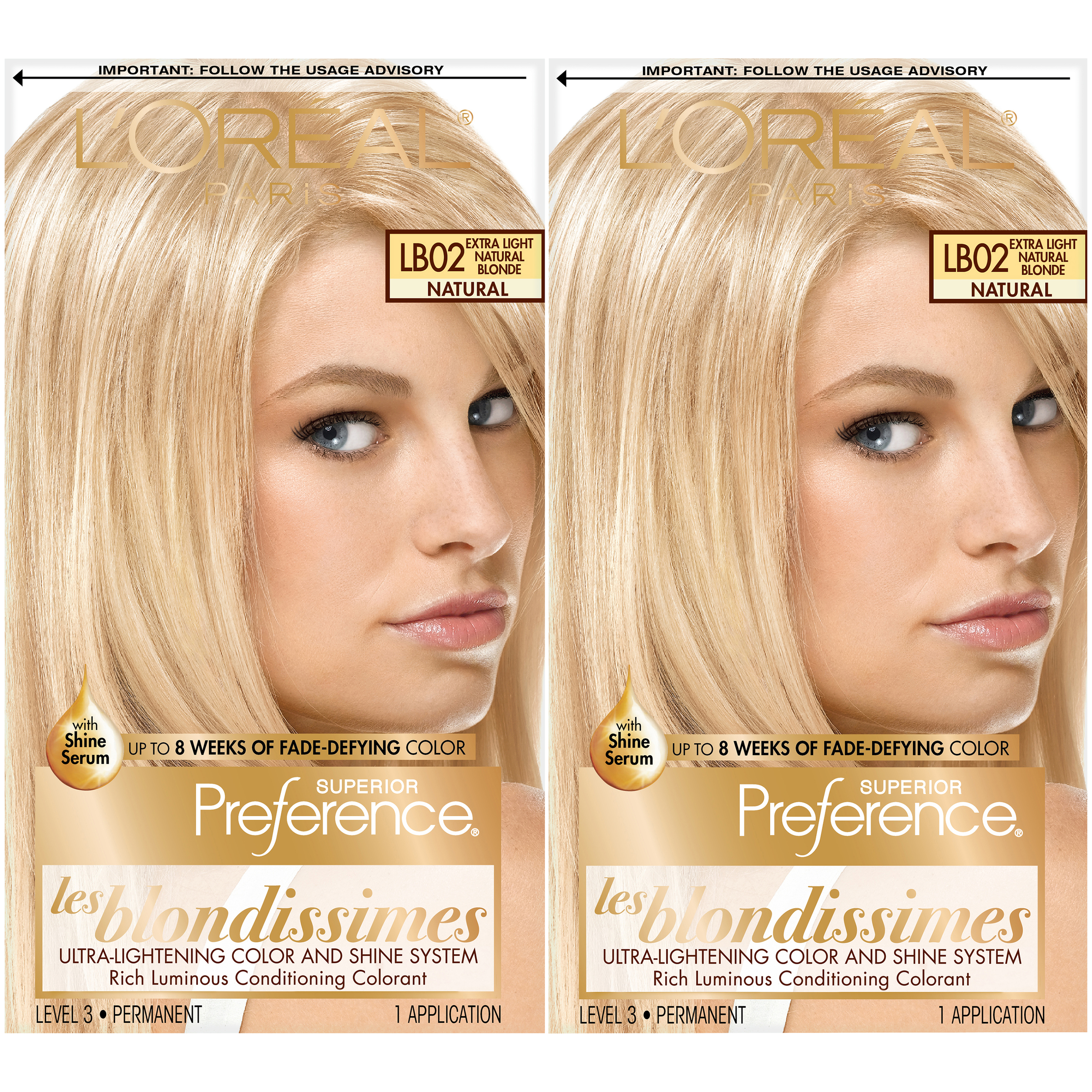 Loreal Paris Preference Permanent Hair Color Lb02 Extra Light Nat