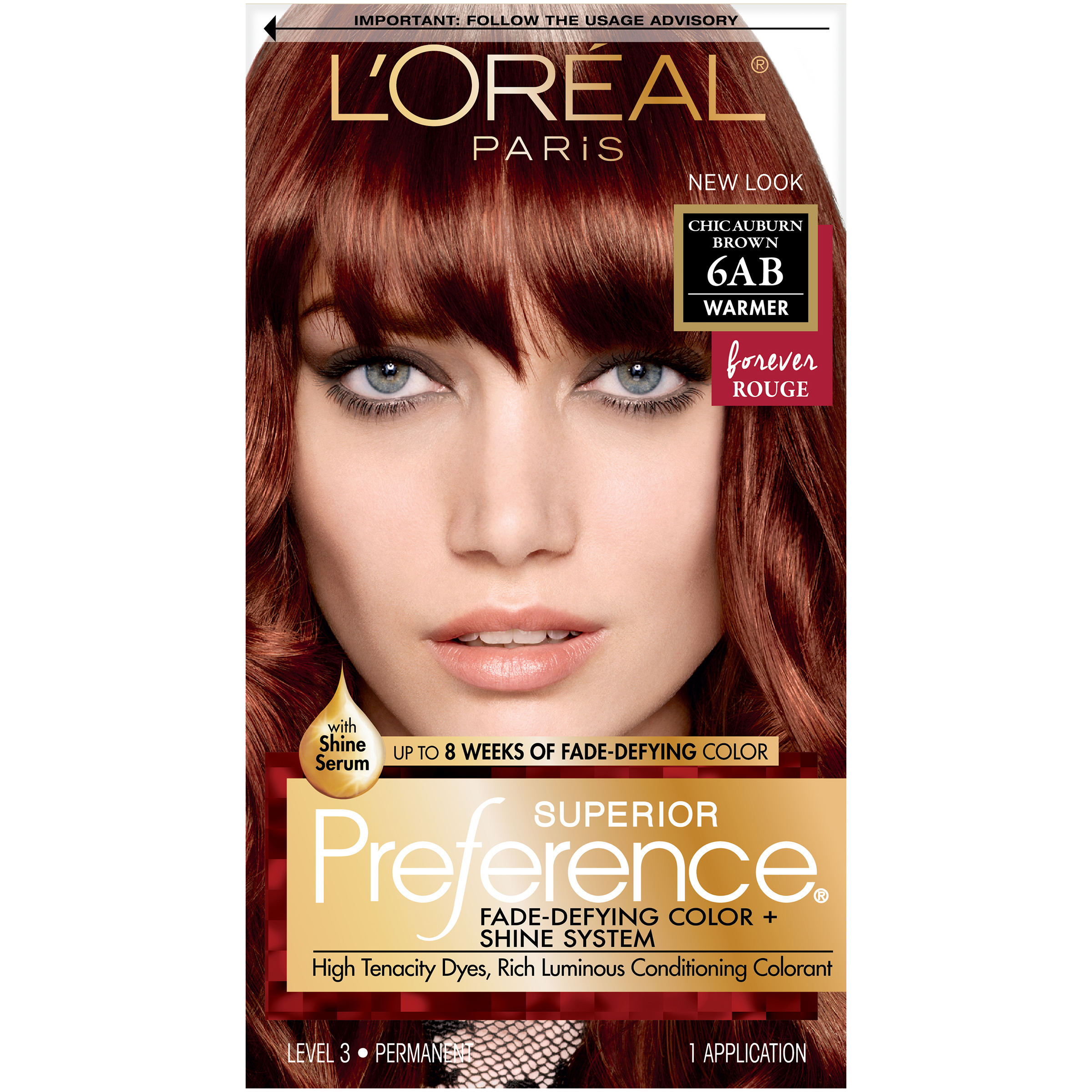Loral Paris Superior Preference Permanent Hair Color 6ab Chic