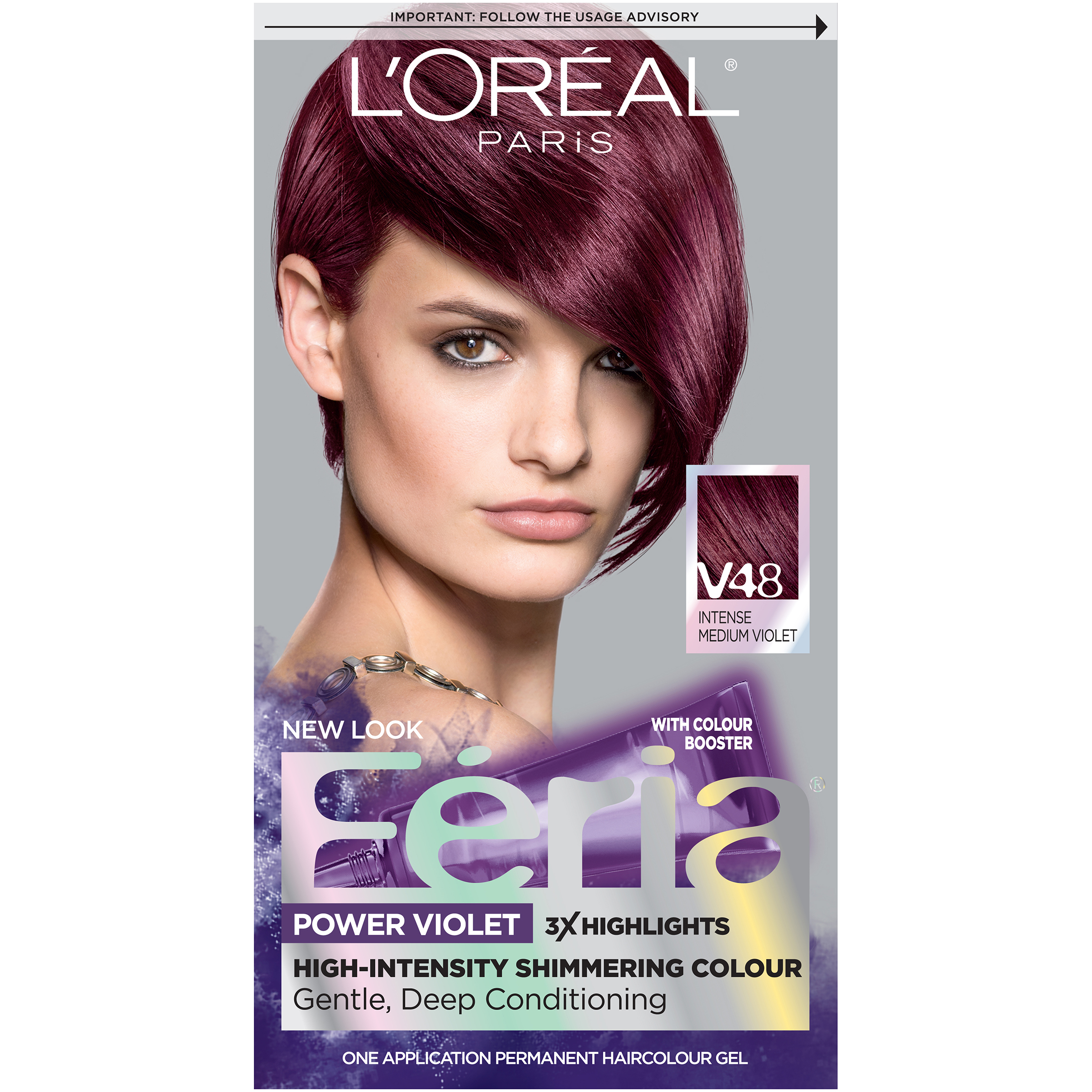 Loreal Paris Feria Shimmering Permanent Hair Color Polybull