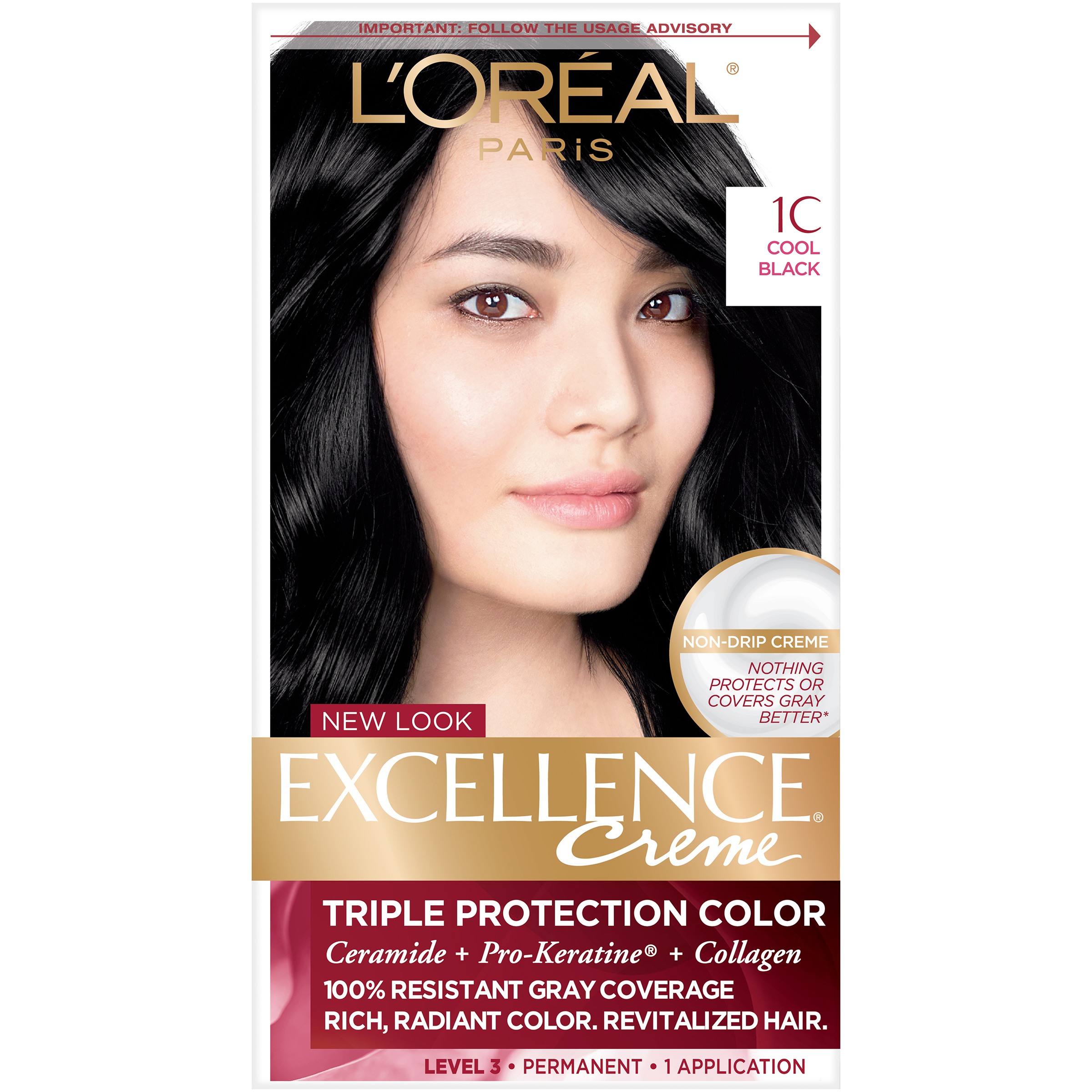 Loreal Paris Excellence Creme Triple Protection Hair Color Kit Cool