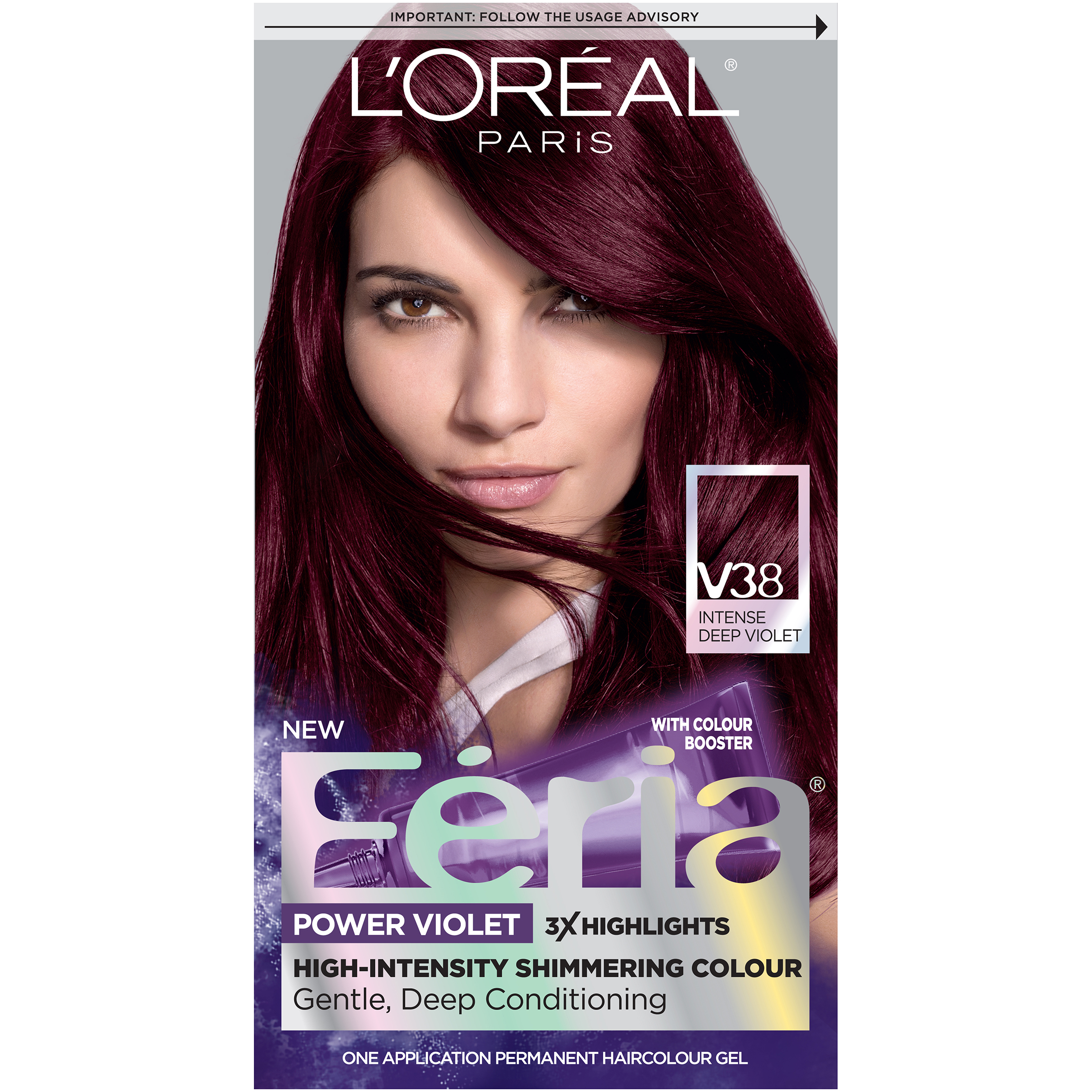Loreal Paris Feria Hair Color V38 Intense Deep Violet Ebay