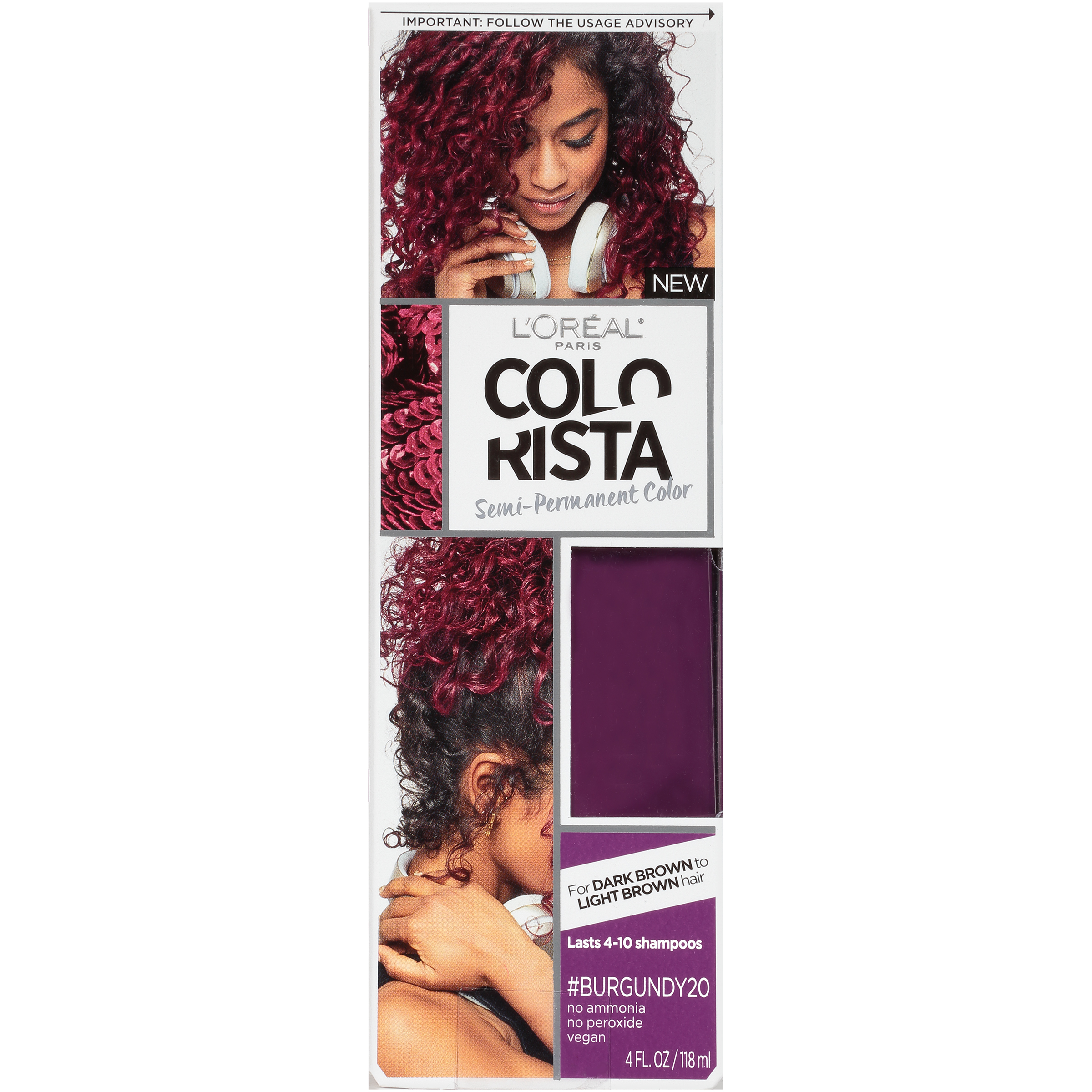 Loreal Paris Colorista Semi Permanent Hair Color For Brunettes Ebay