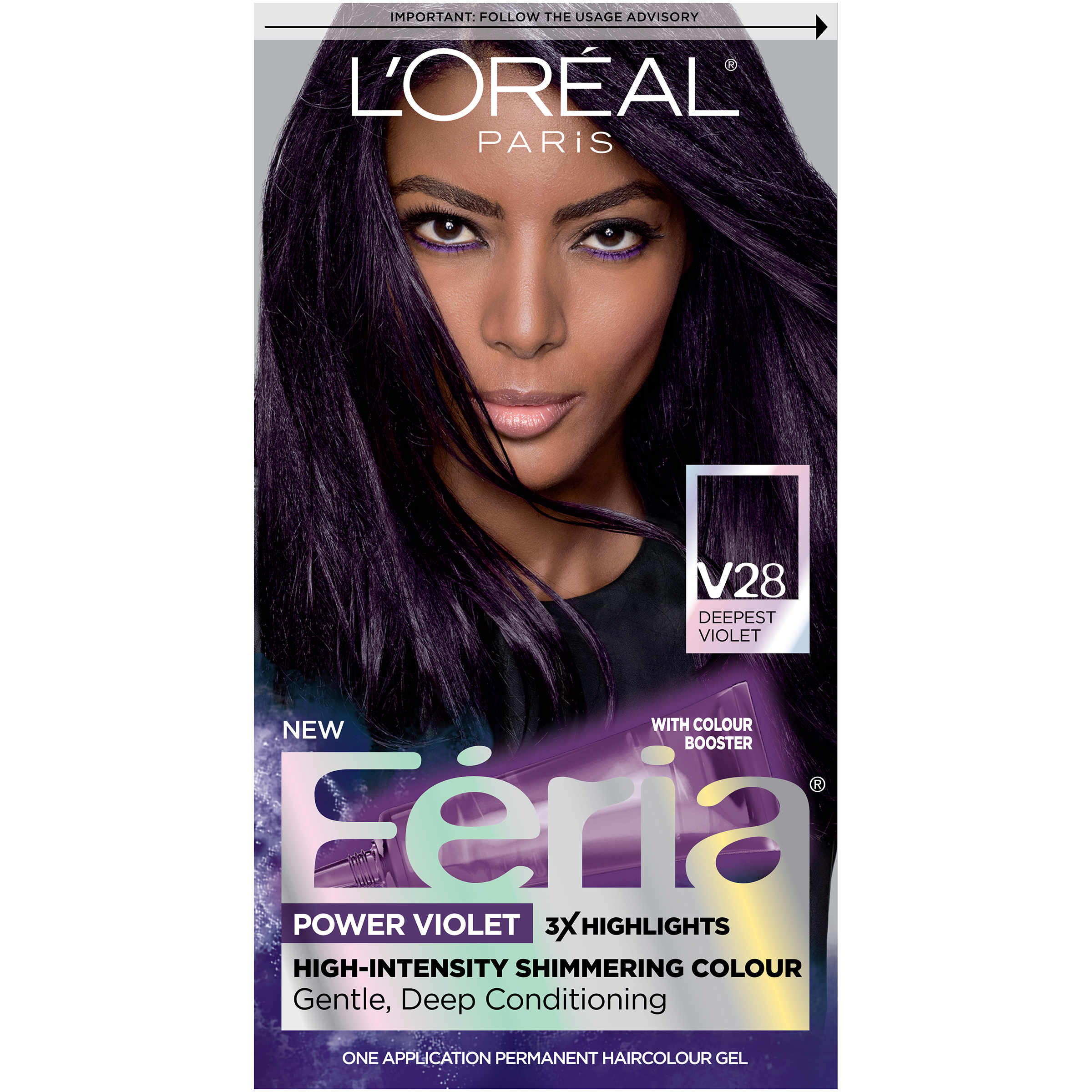 Loral Paris Feria Permanent Hair Color V28 Midnight Violet