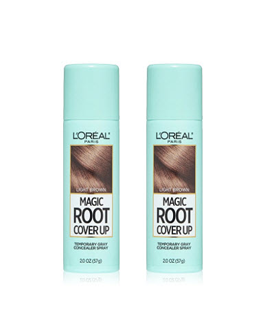 LOreal Paris Magic Root Cover Up Gray Concealer Hair Spray Light Brown 2-Pack