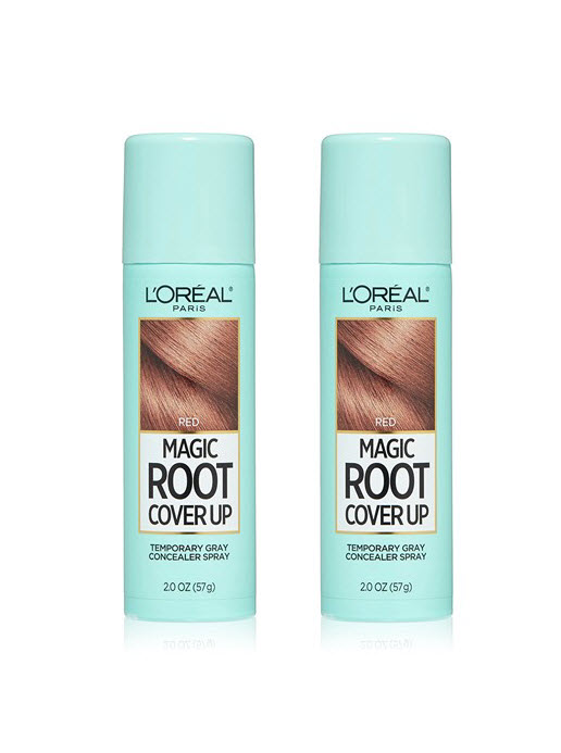 LOreal Paris Magic Root Cover Up Gray Concealer Hair Spray Red 2-Pack