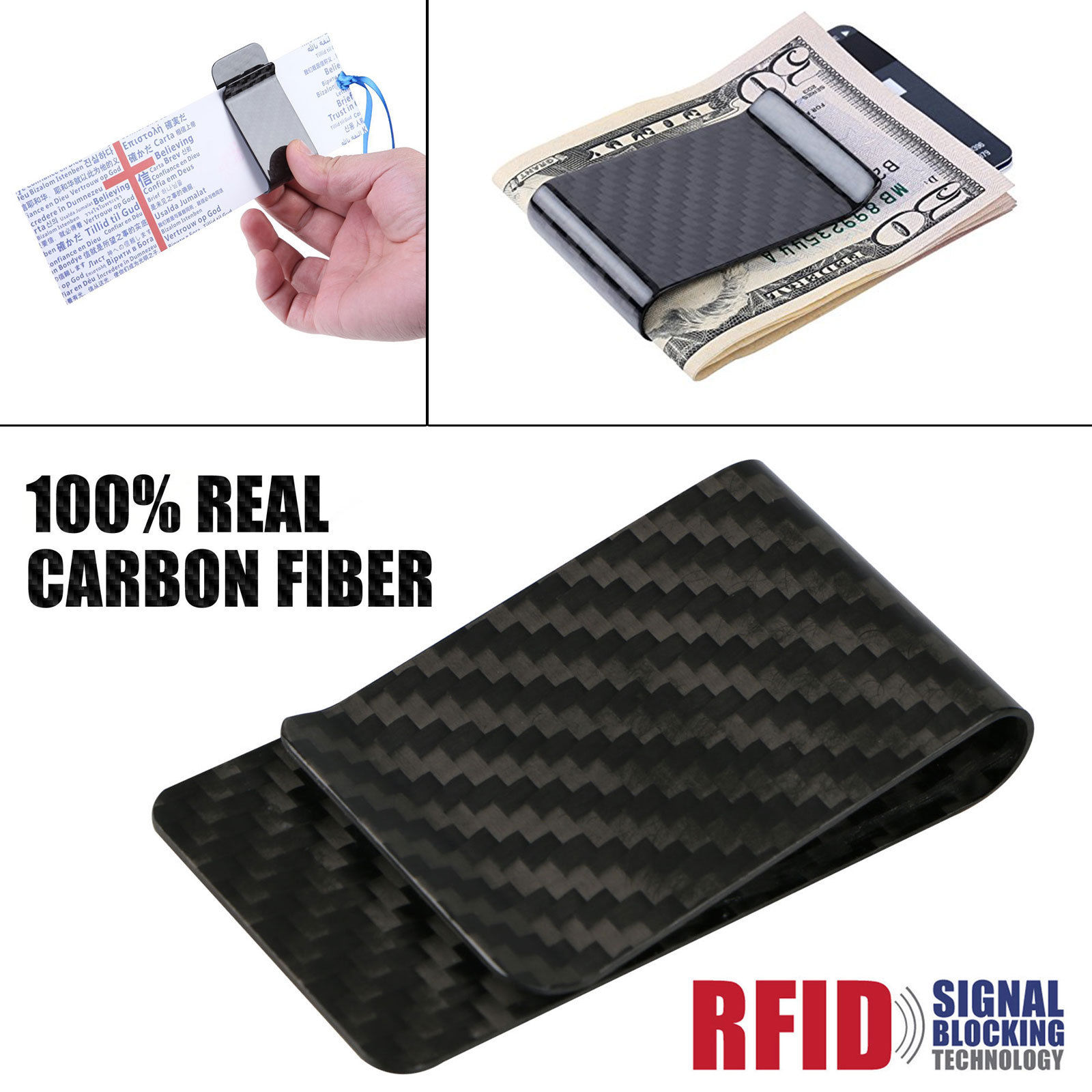Real carbon fiber money clip safepocket business credit card real carbon fiber money clip safepocket business credit magicingreecefo Choice Image