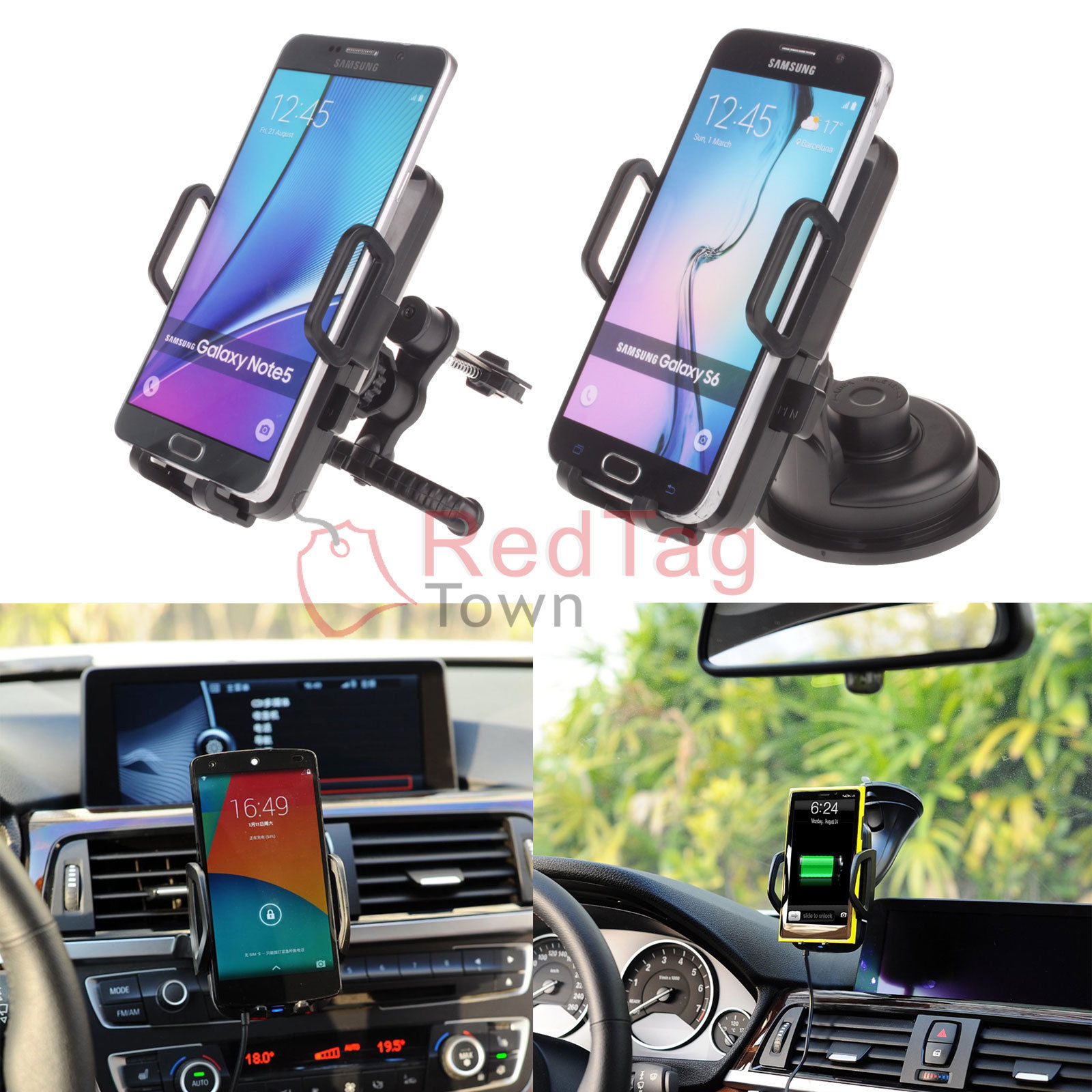 Qi Wireless Car Charger Pad Charging Dock Holder For