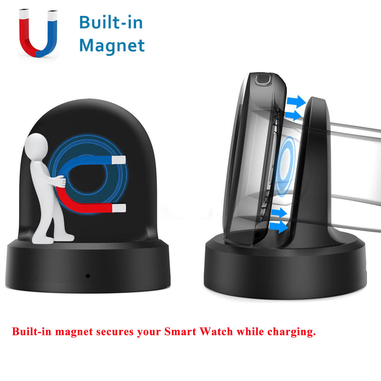 qi wireless charging dock charger stand cradle for samsung galaxy gear s3 s2 ebay. Black Bedroom Furniture Sets. Home Design Ideas