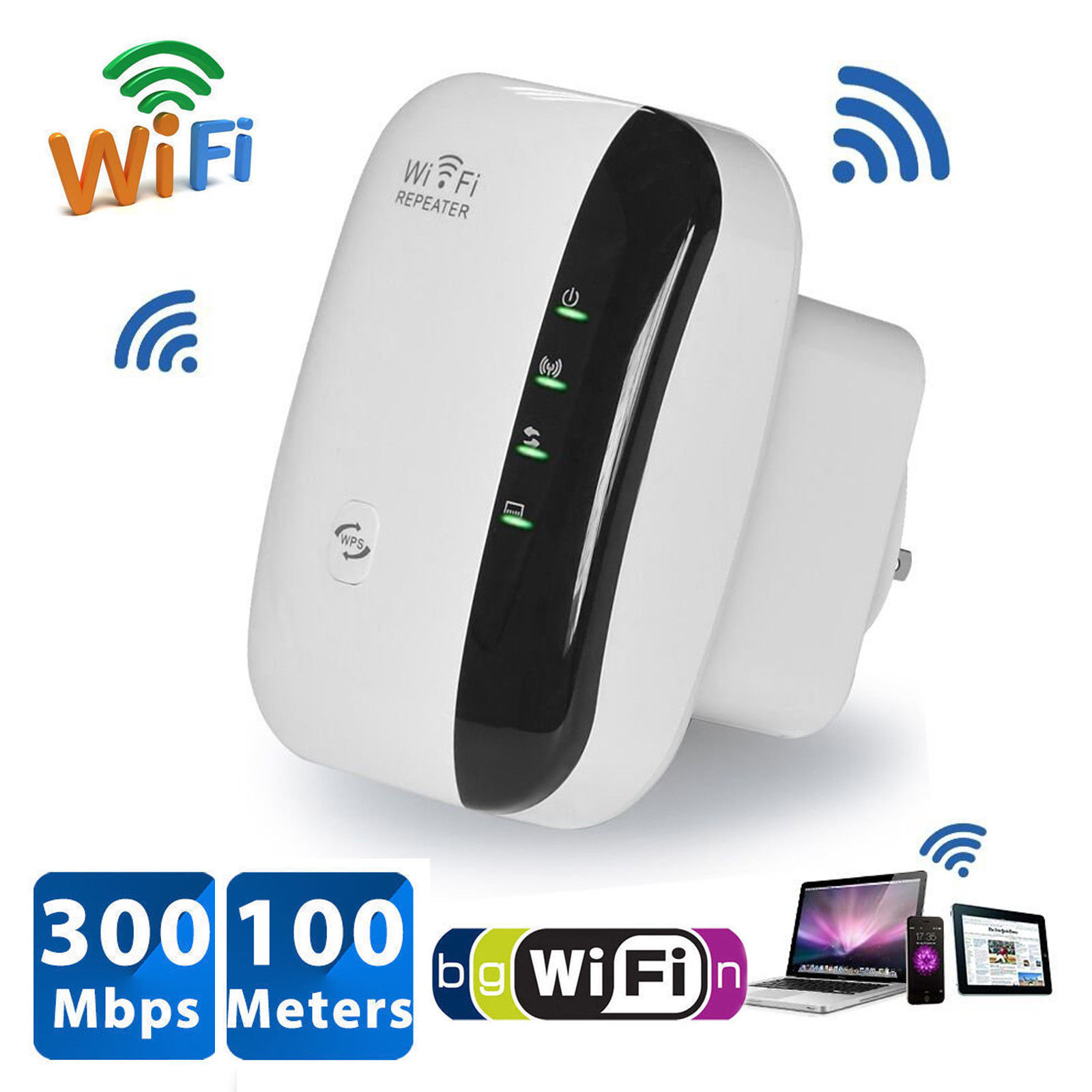 300Mbps-Wireless-N-AP-Range-802-11-Wifi-Repeater-Signal-Extender-Booster-US-Plug thumbnail 14