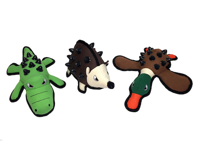Part 43600,Multipet International,Dura-Bites Plush Dog Toy Durable St Assorted